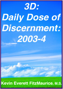 Book cover for 3D: Daily Dose of Discernment: 2003-4