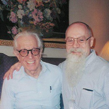 Kevin with Albert Ellis