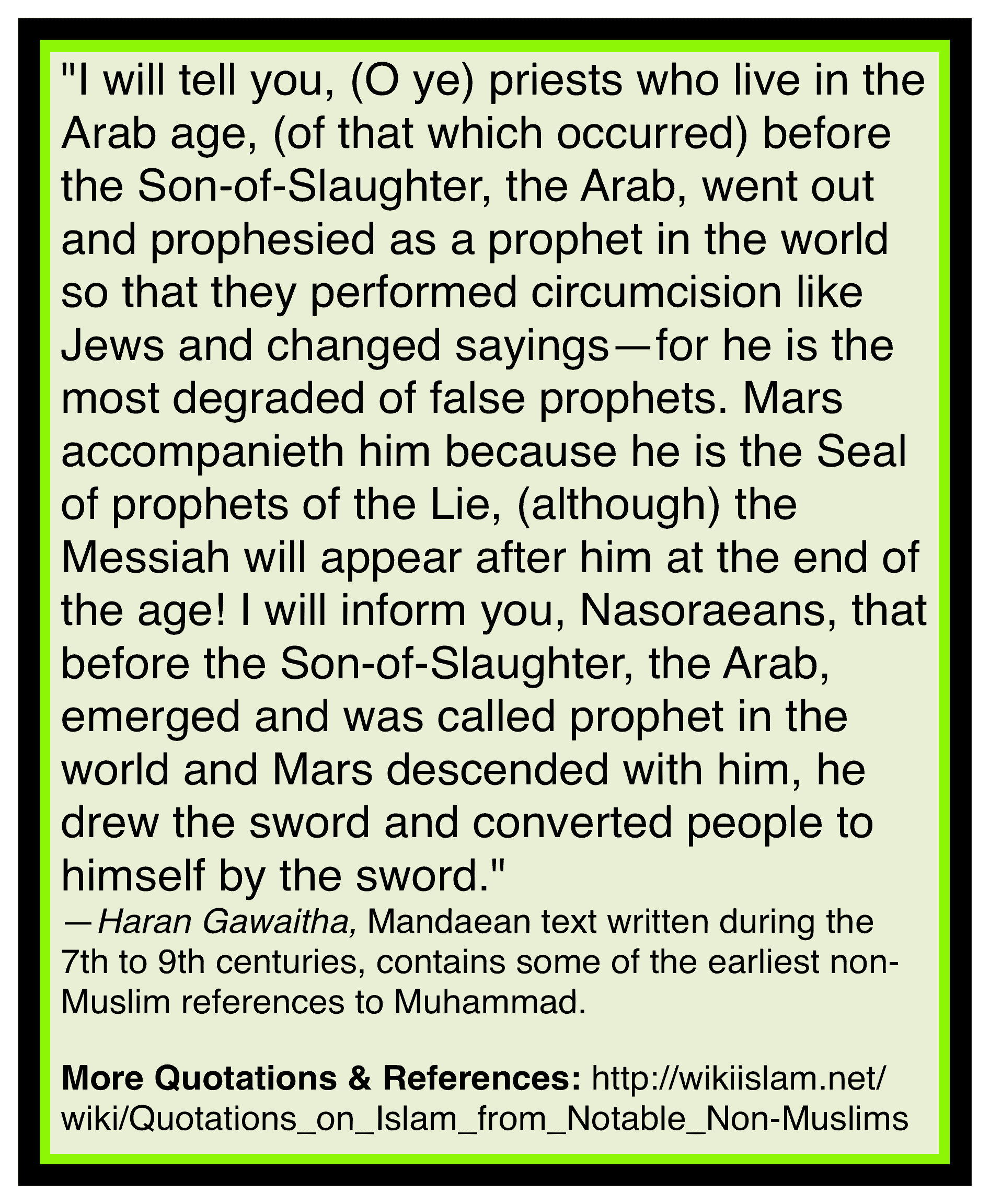 Muhammad is a fake