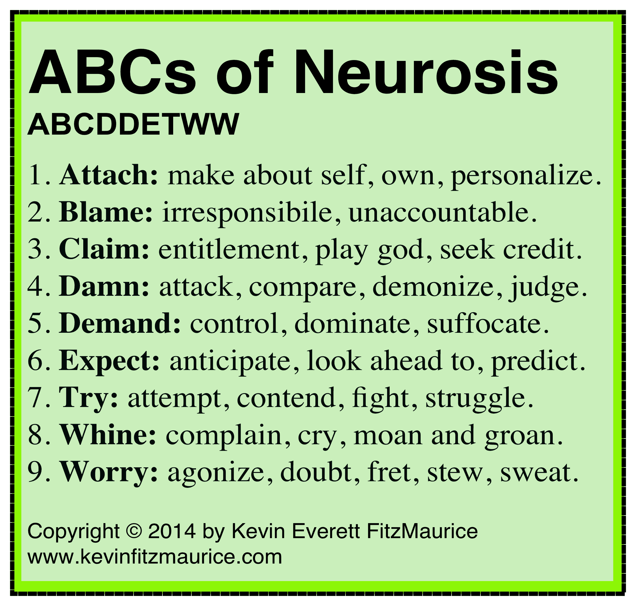 ABCs of neurosis