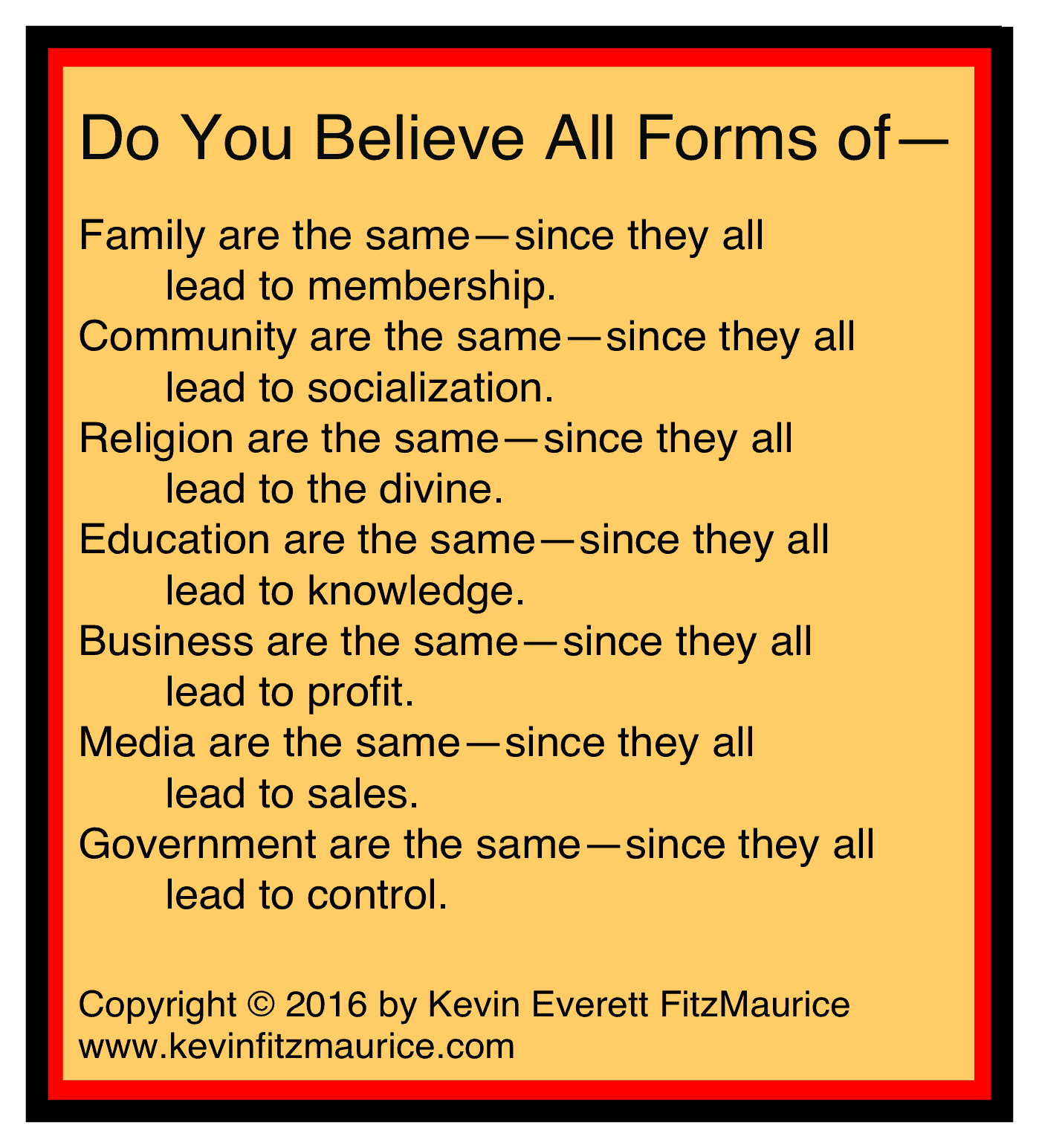 all forms of governments