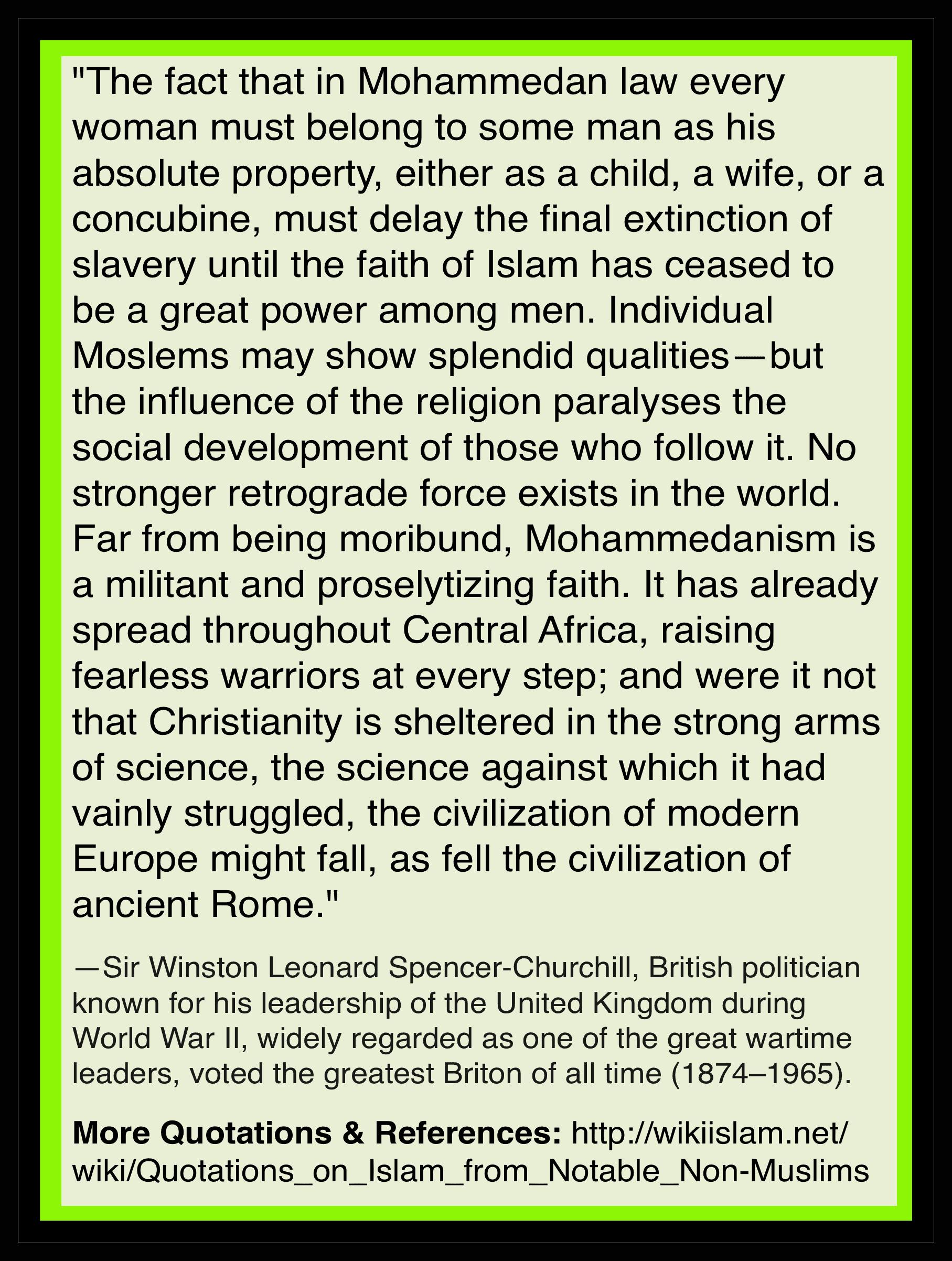 Islam stops social development