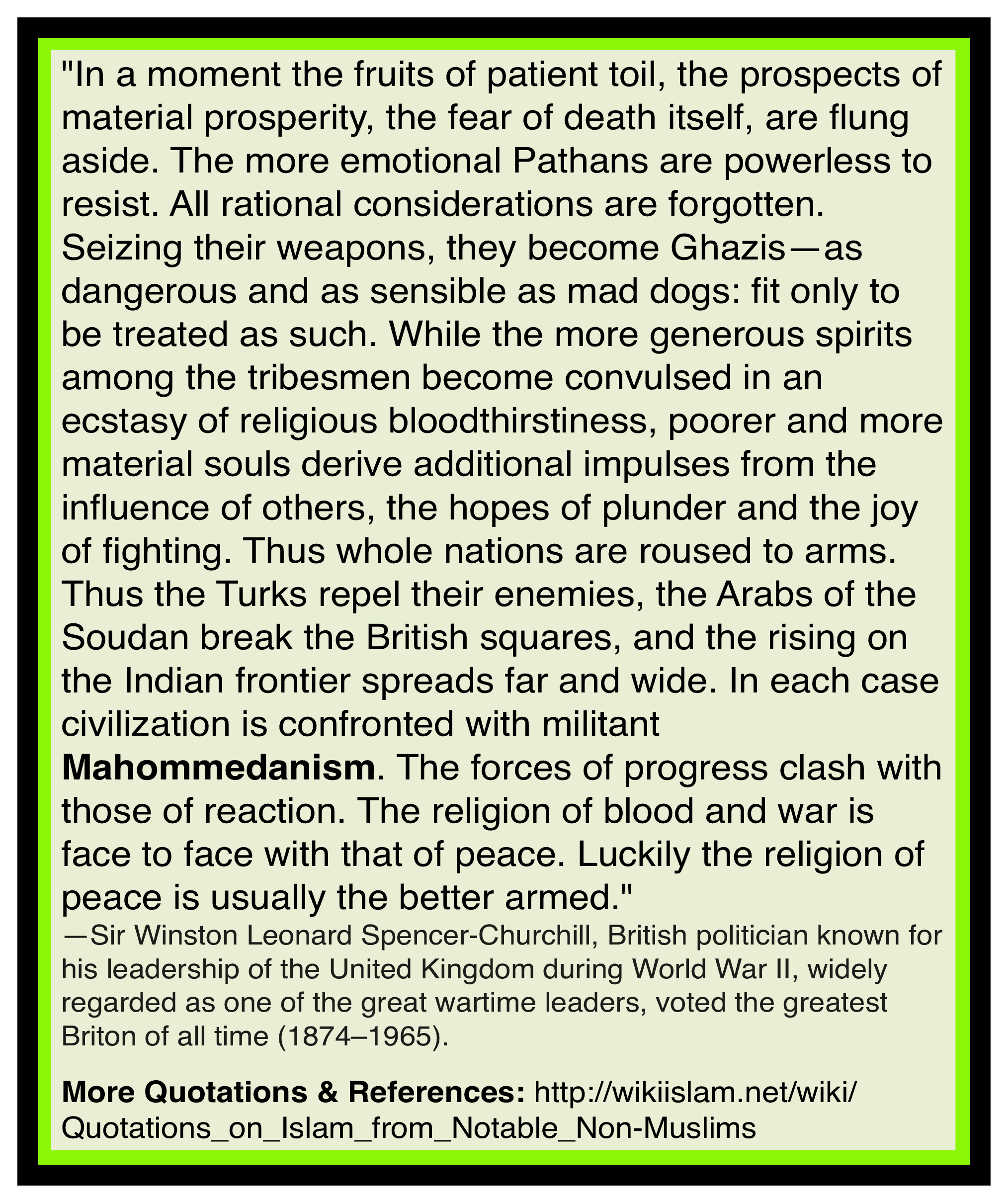 Islam is anti-civilization