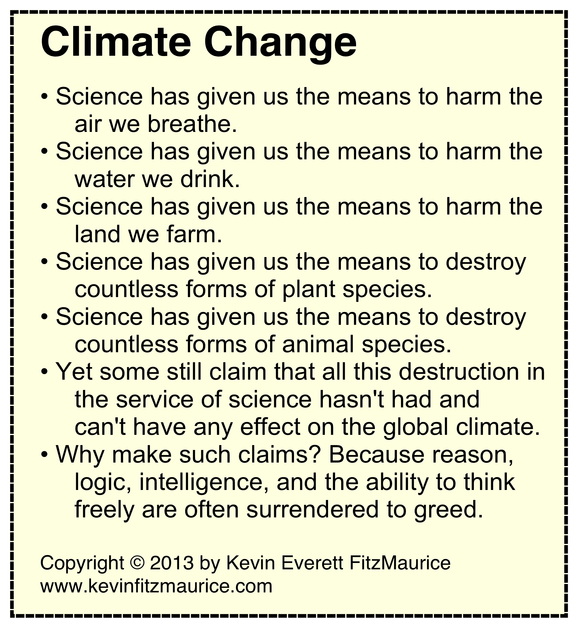 climate change and science