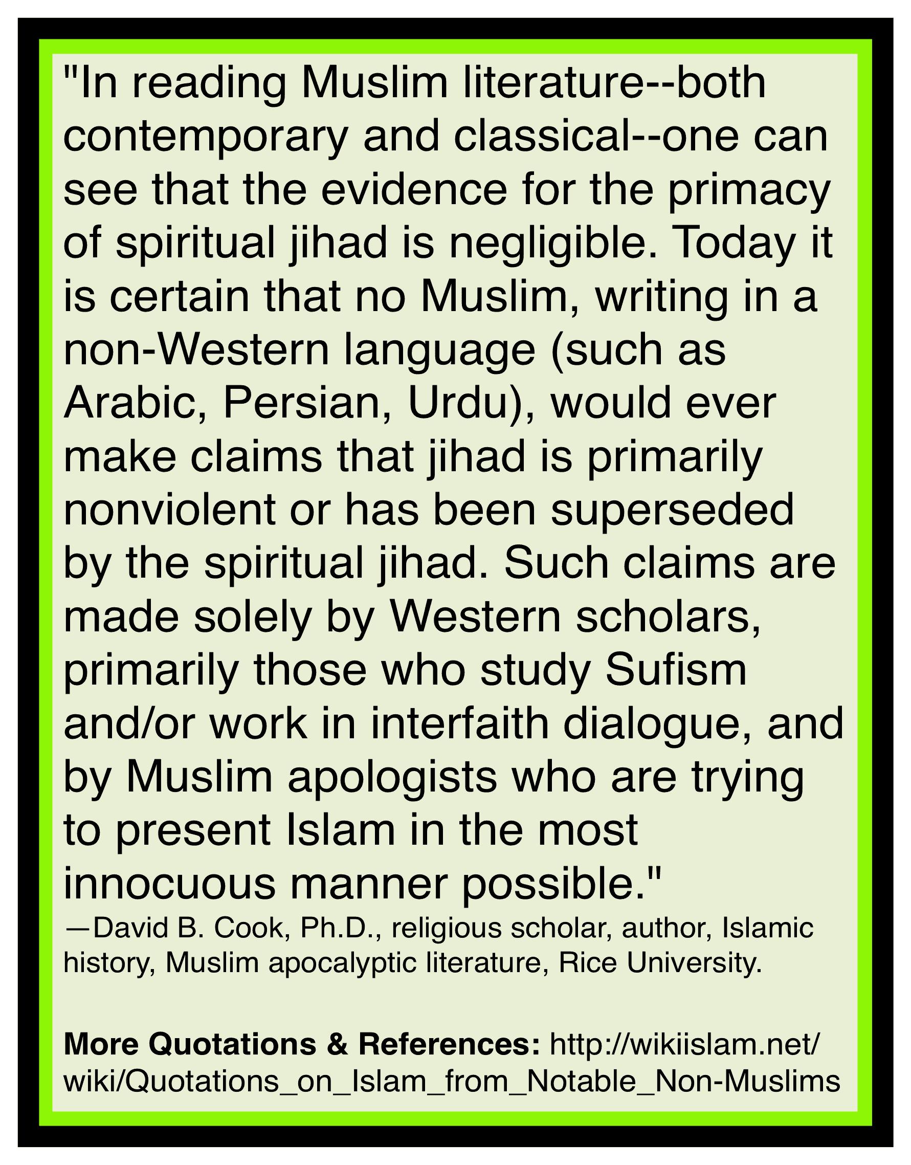 Islam jihad is war