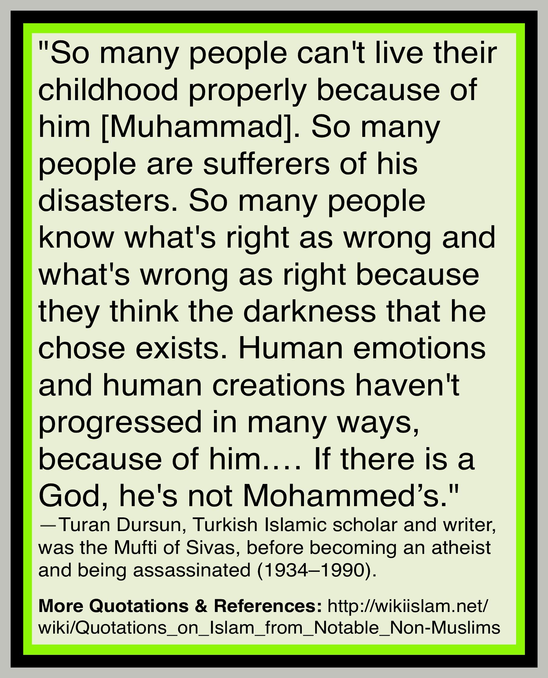 Islam ruins childhood