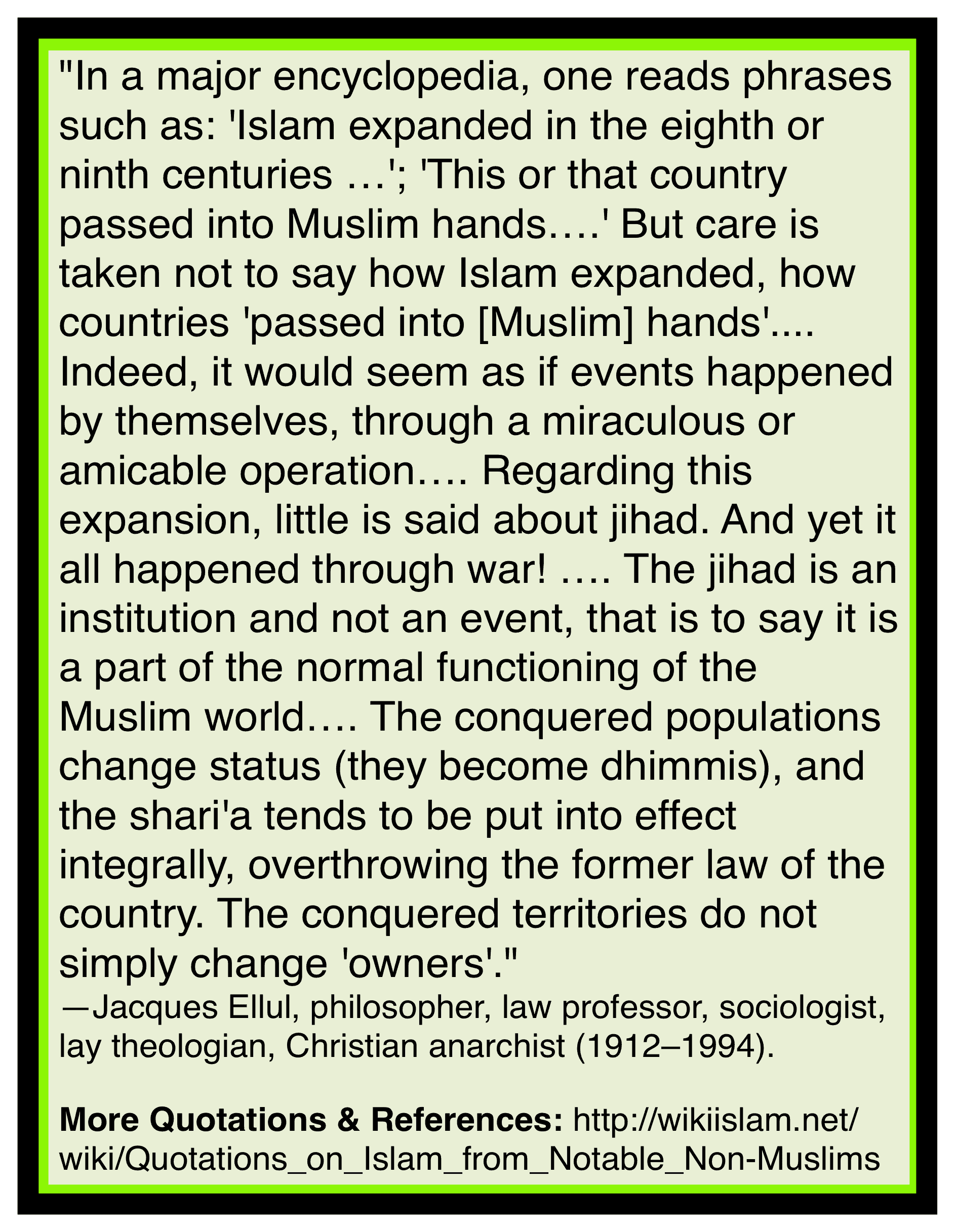 Islam history lied about
