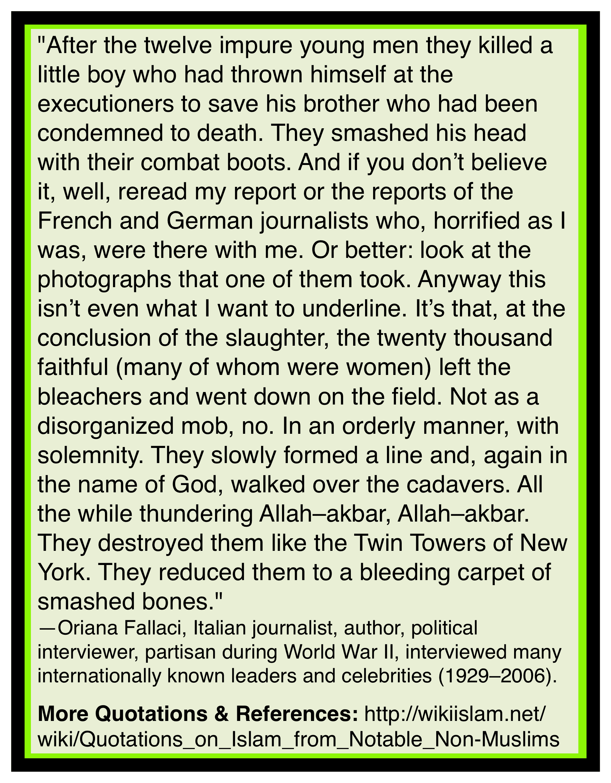 Islam causes barbarism