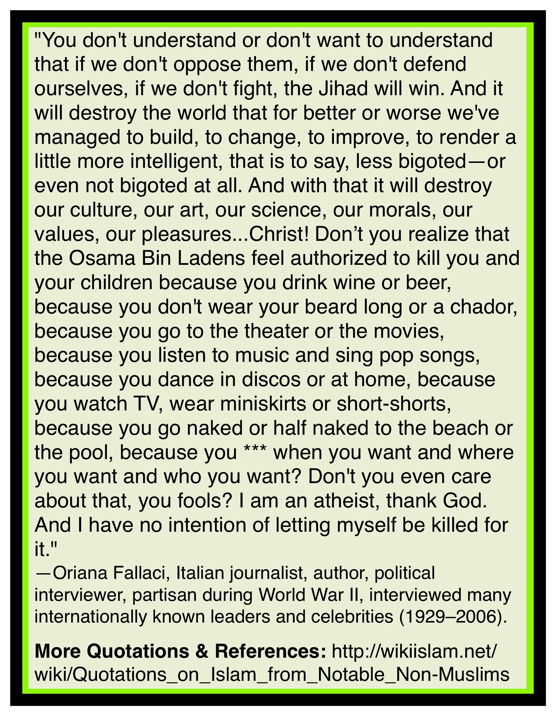Islam destroys culture