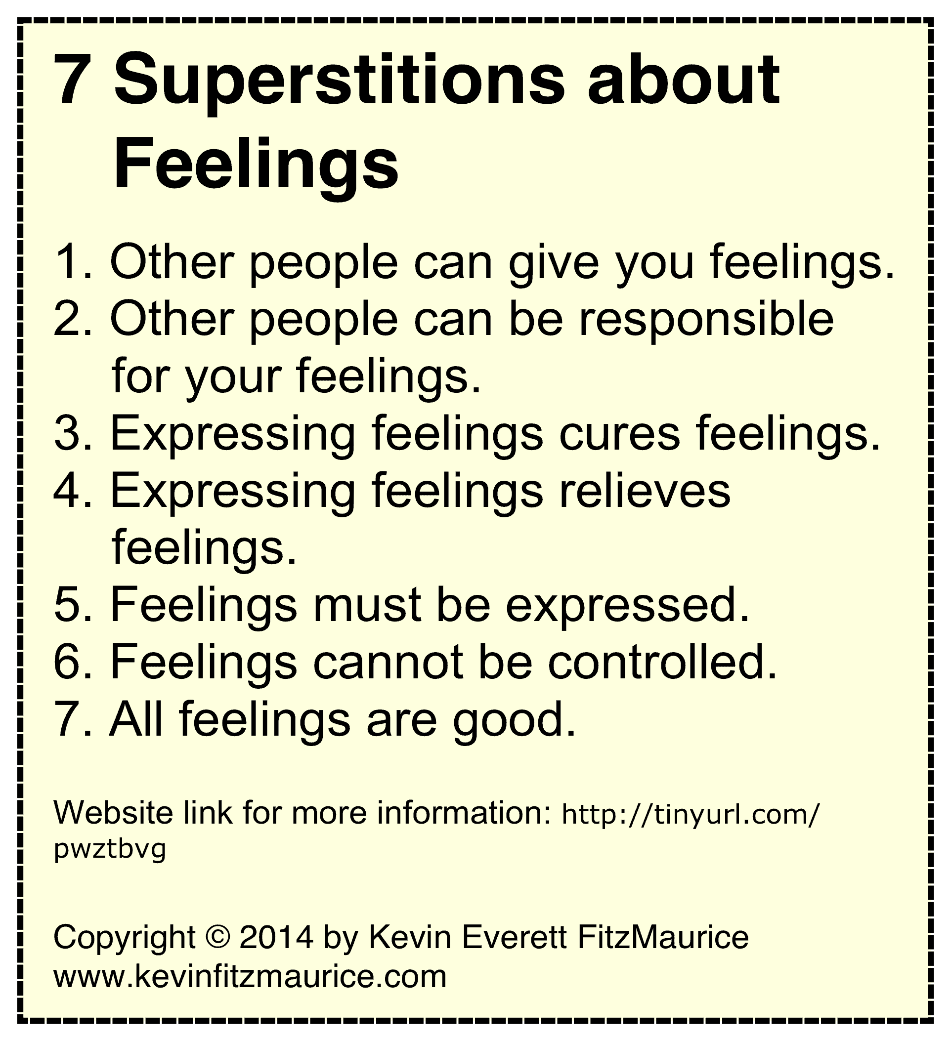 7 feeling superstitions