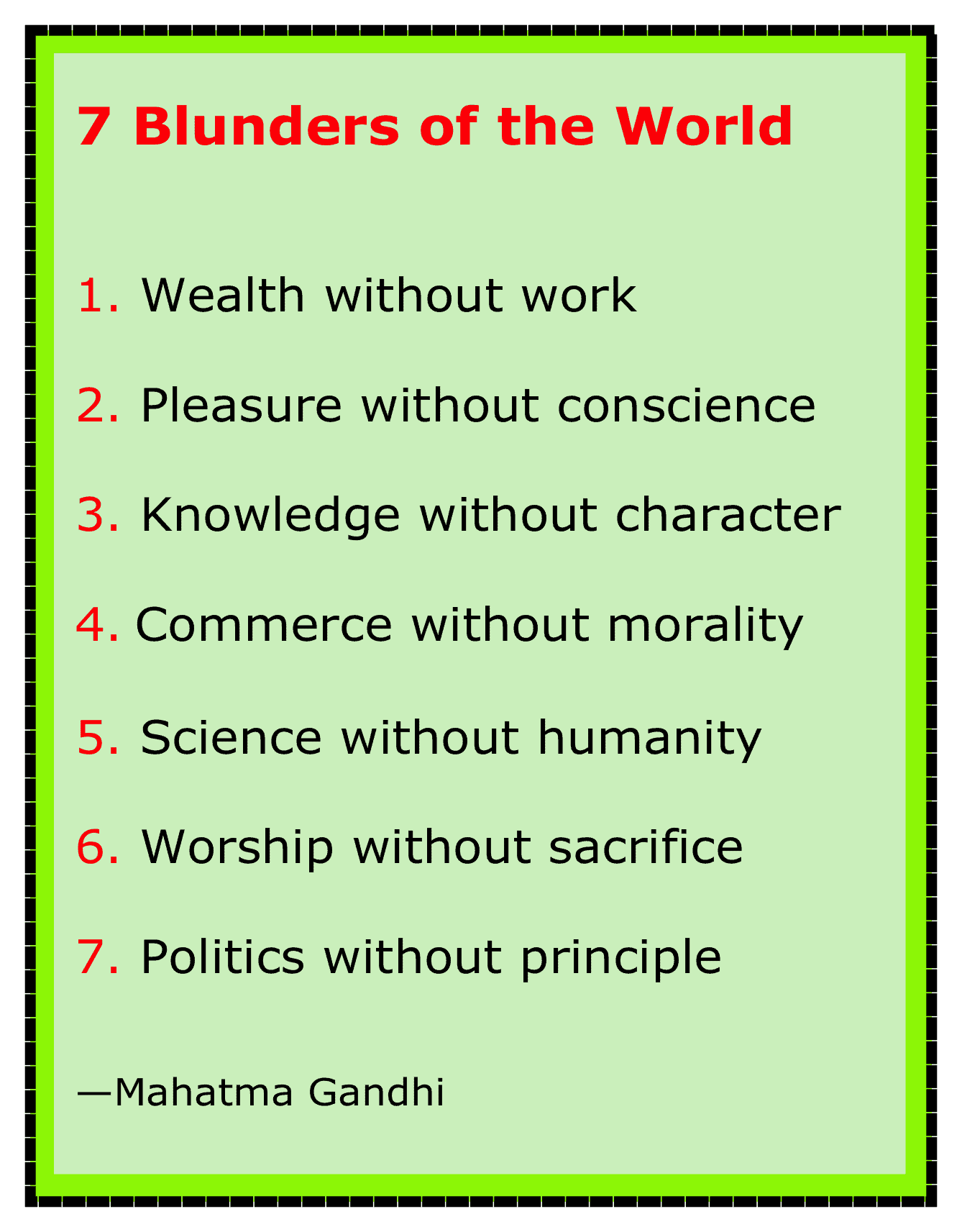 7 blunders of world