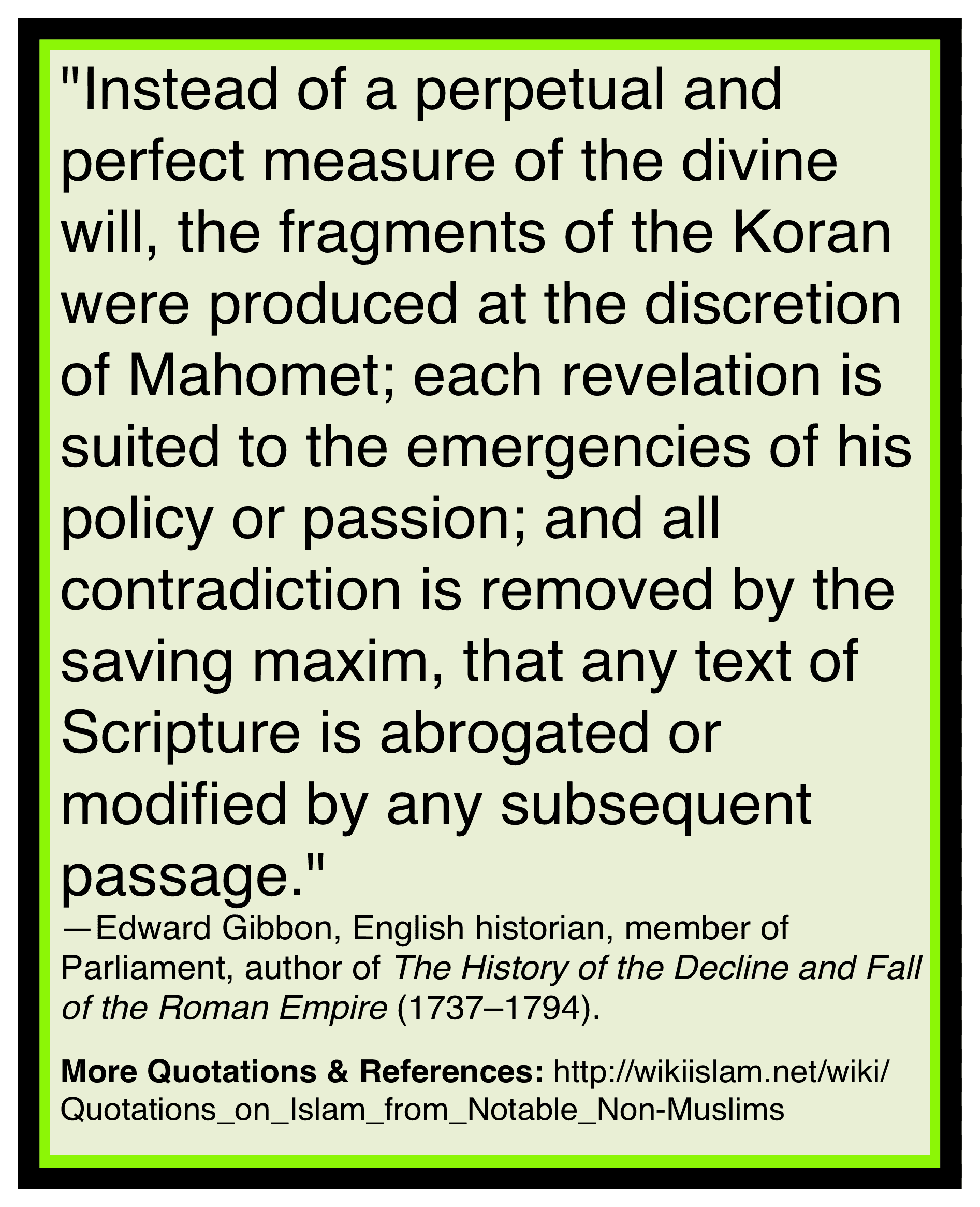 Quran covers its own lies