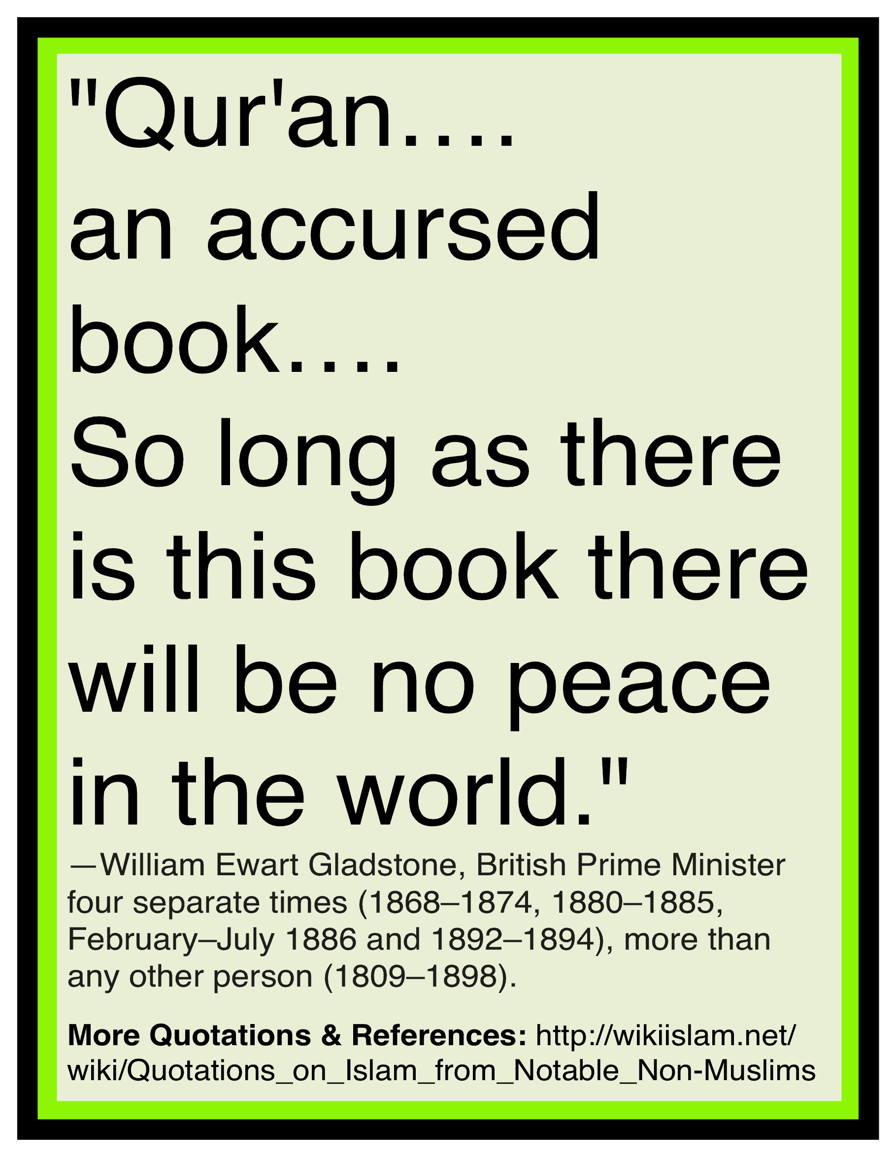 Quran is accursed book