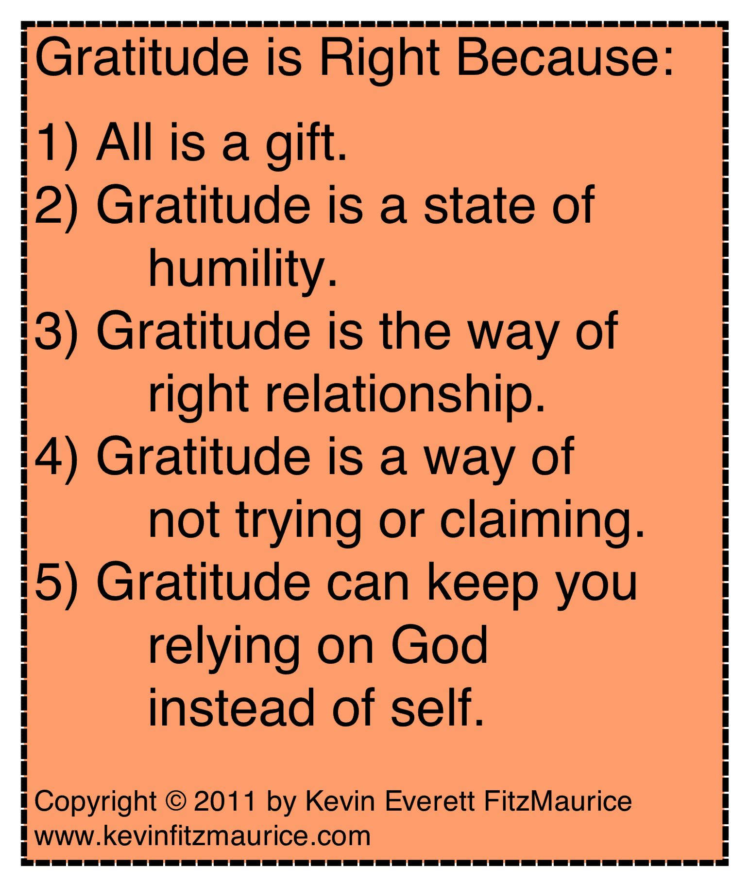 gratitude is right response