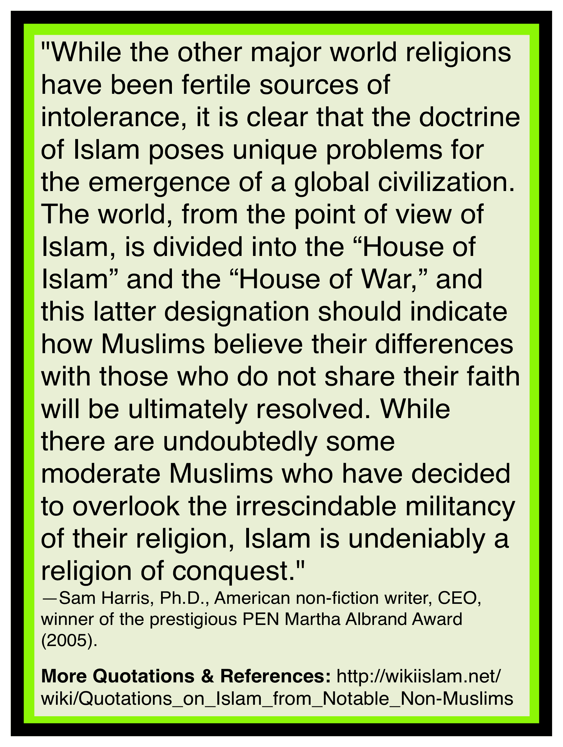Islam is about conquest