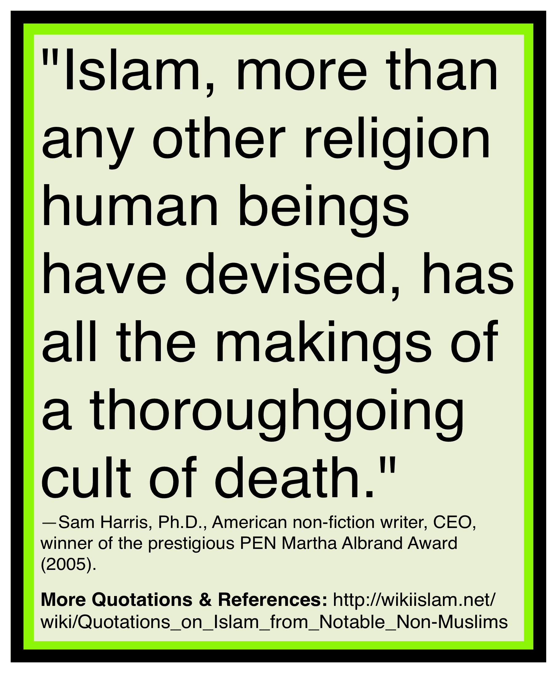Islam is a death cult