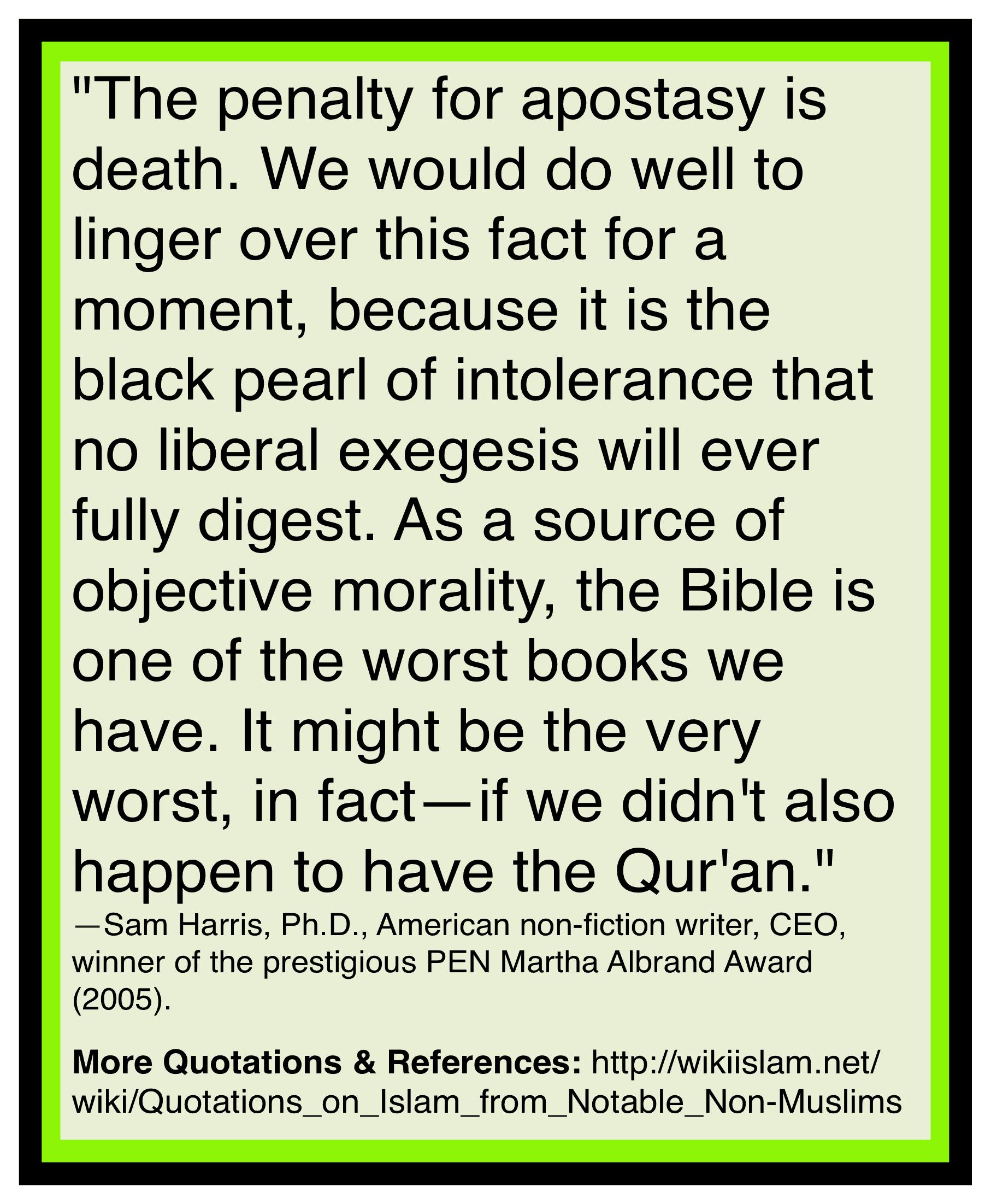 Islam murders those who leave