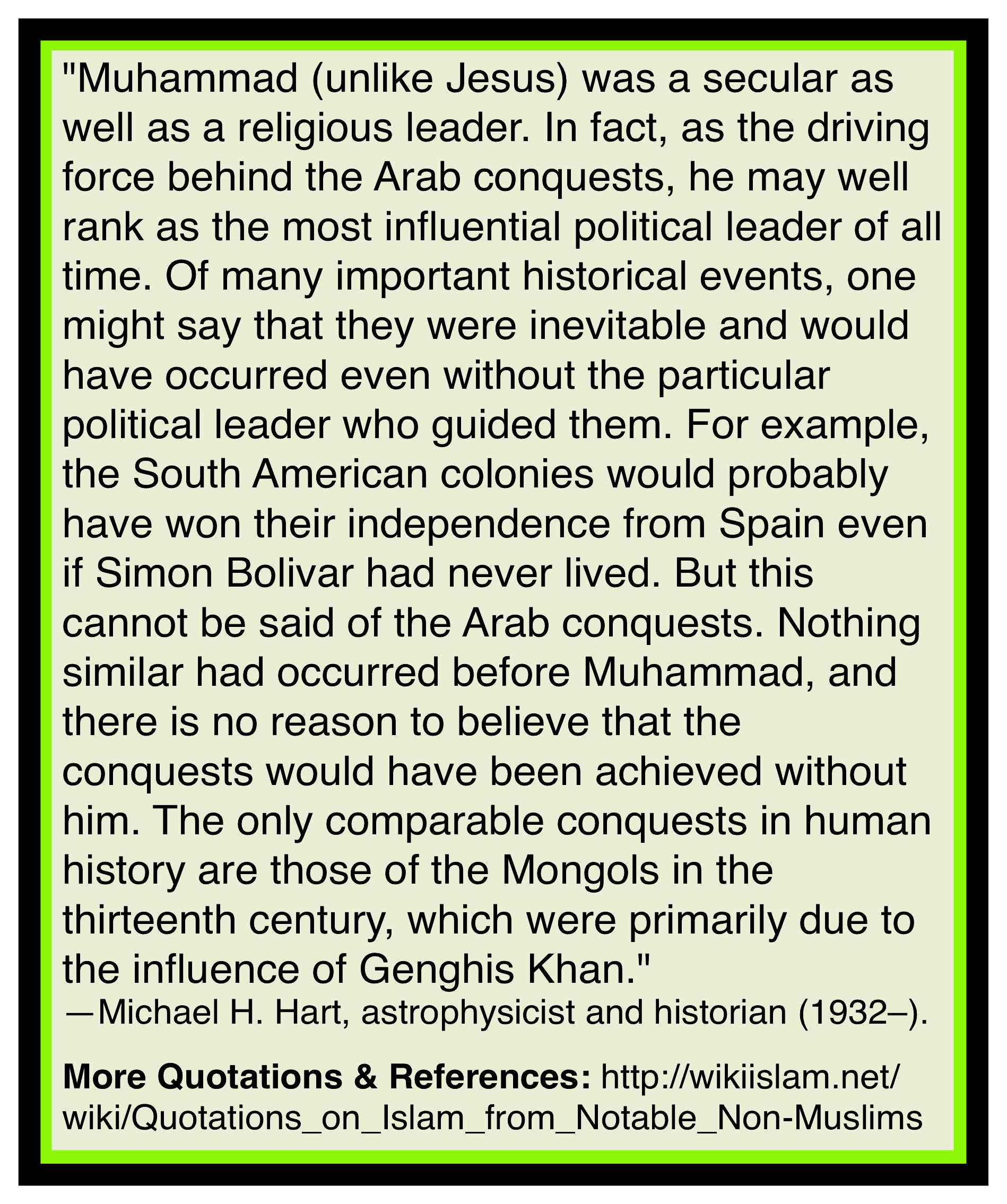 Muhammad incited others to murder