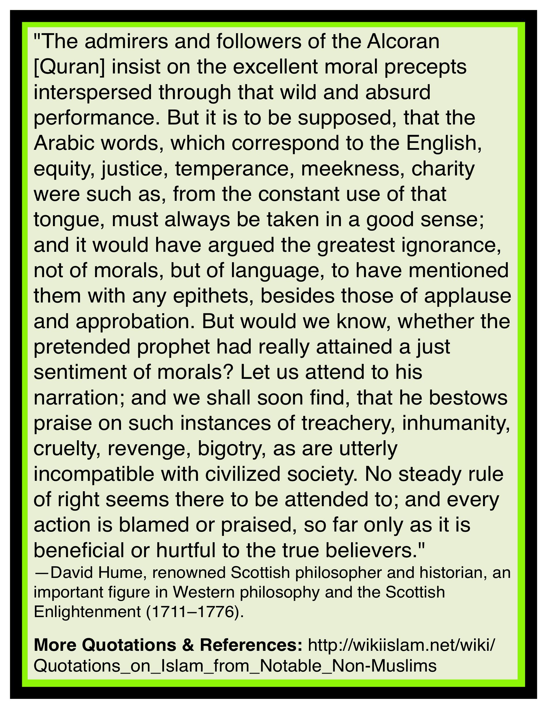 Muhammad taught immorality