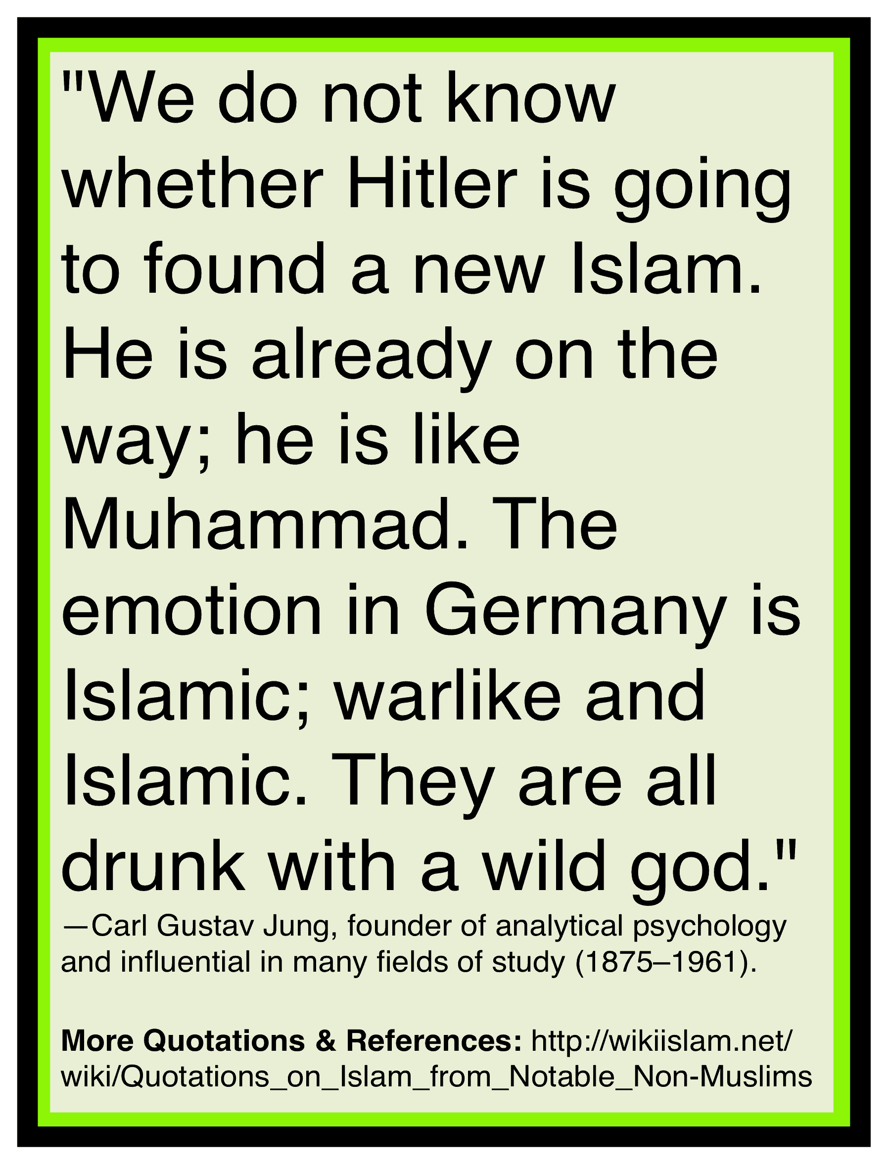 Islam is like nazism