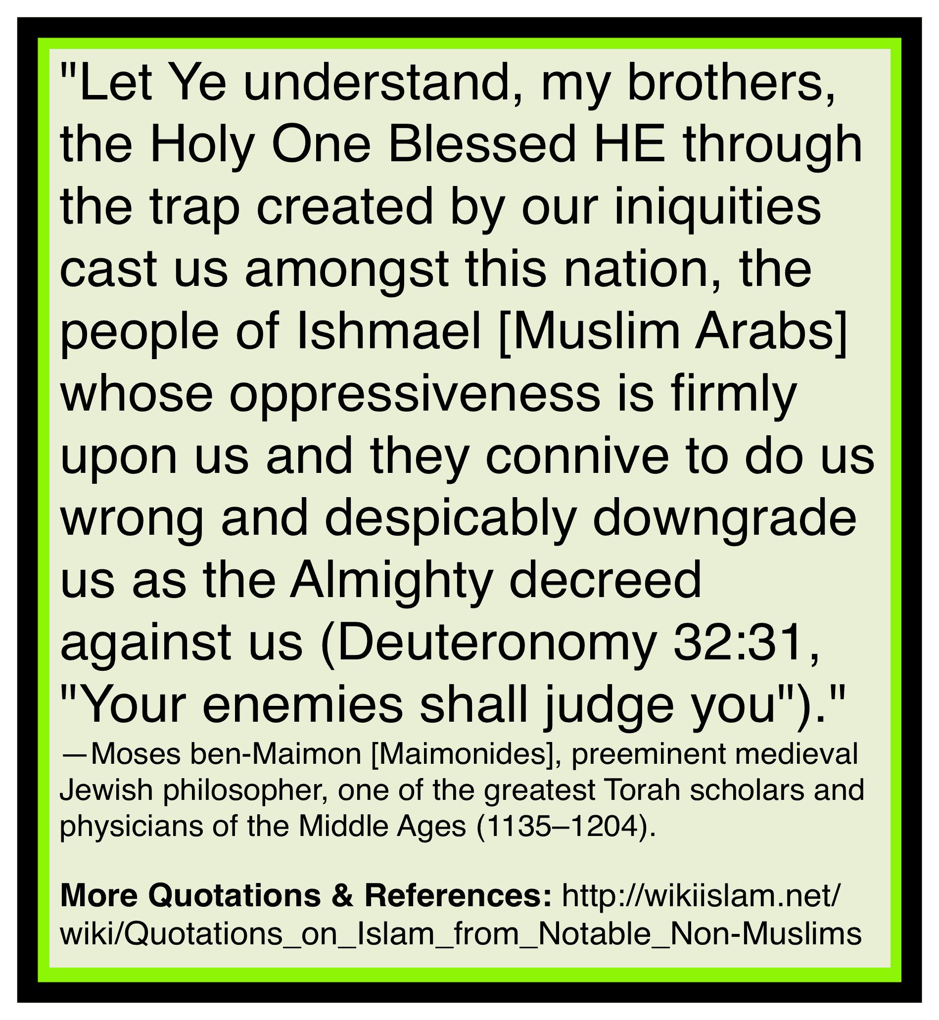 Islam brings war to the Jews