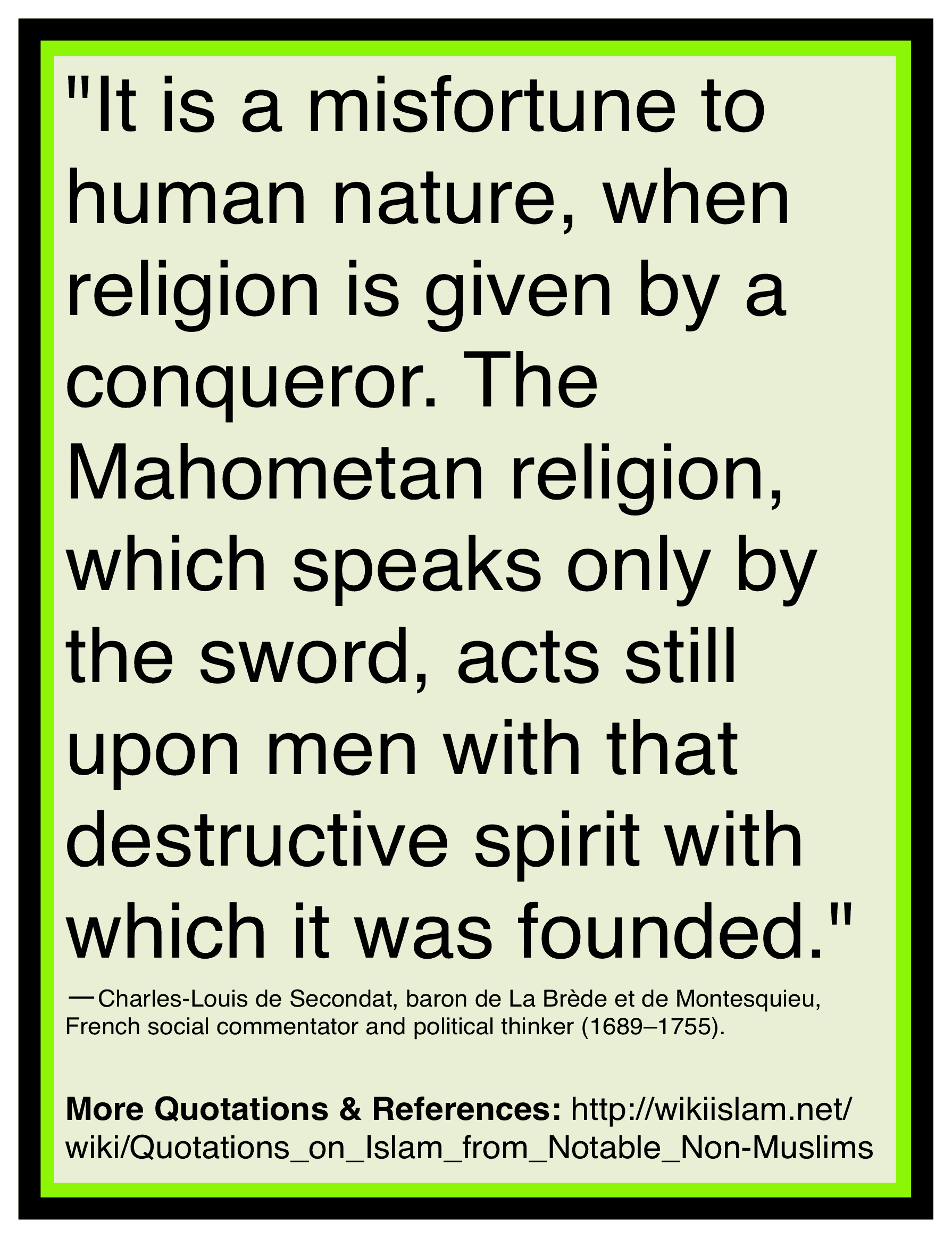 Islam is a religion of violence