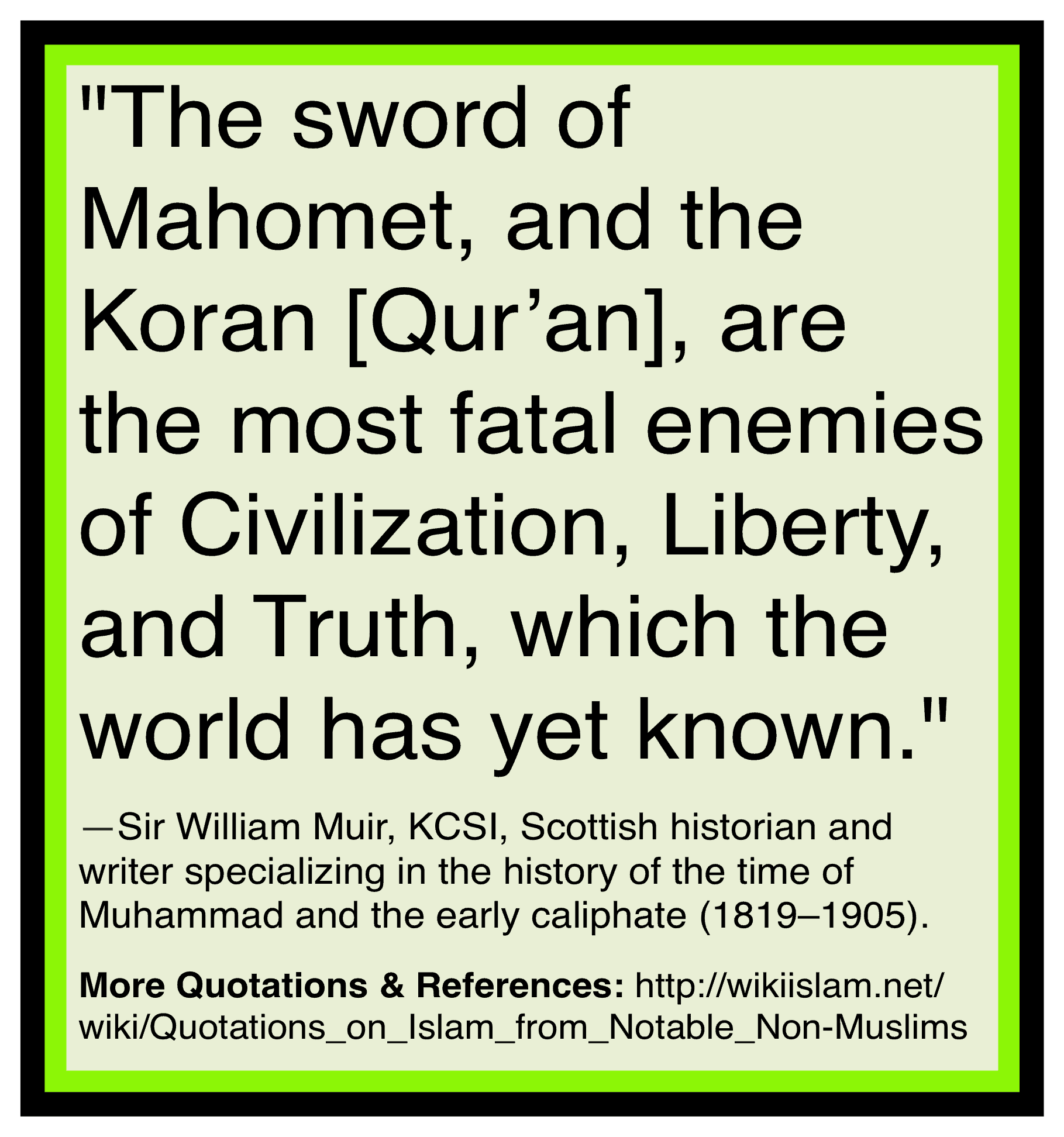 Islam is the enemy of civilization