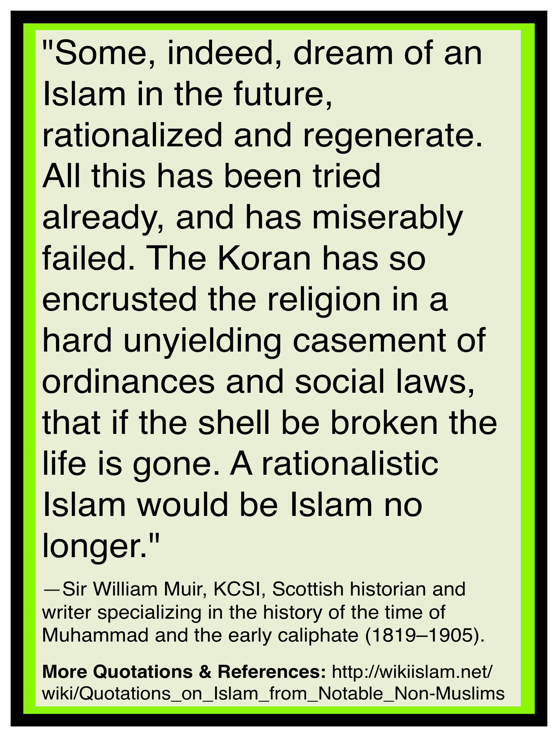 Islam cannot be reformed