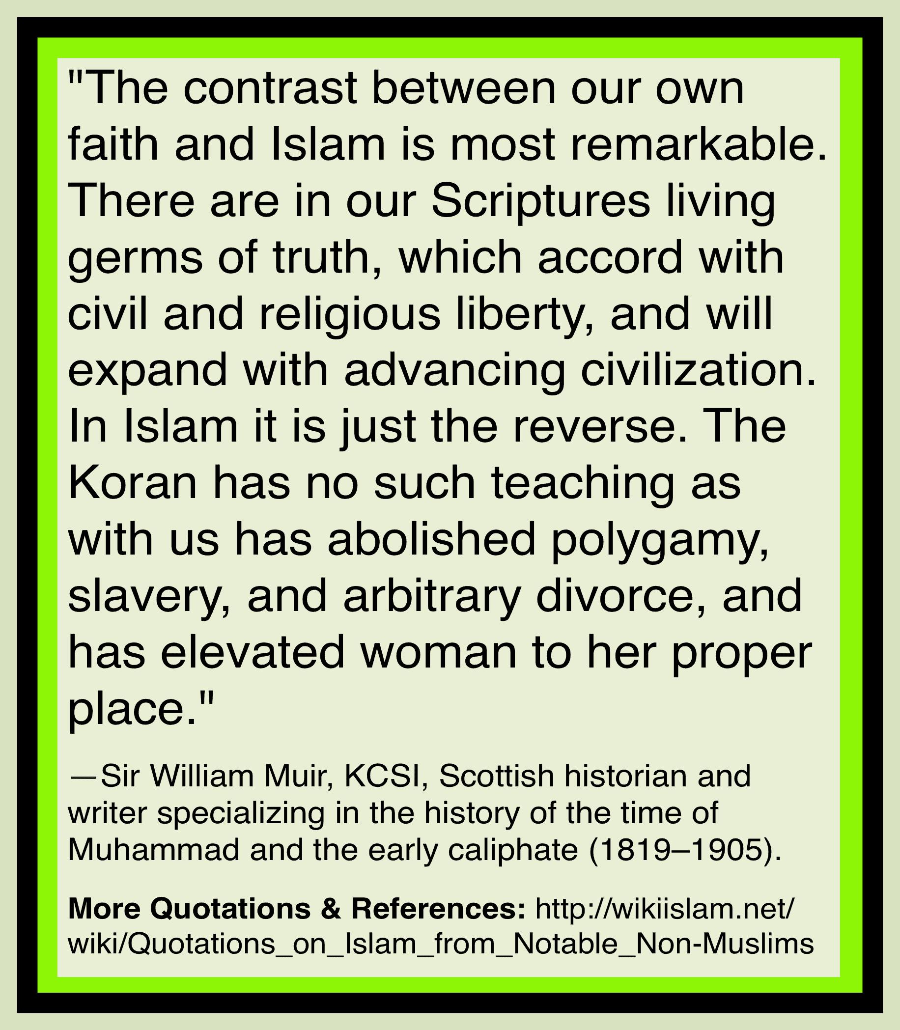 Islam maintains evils