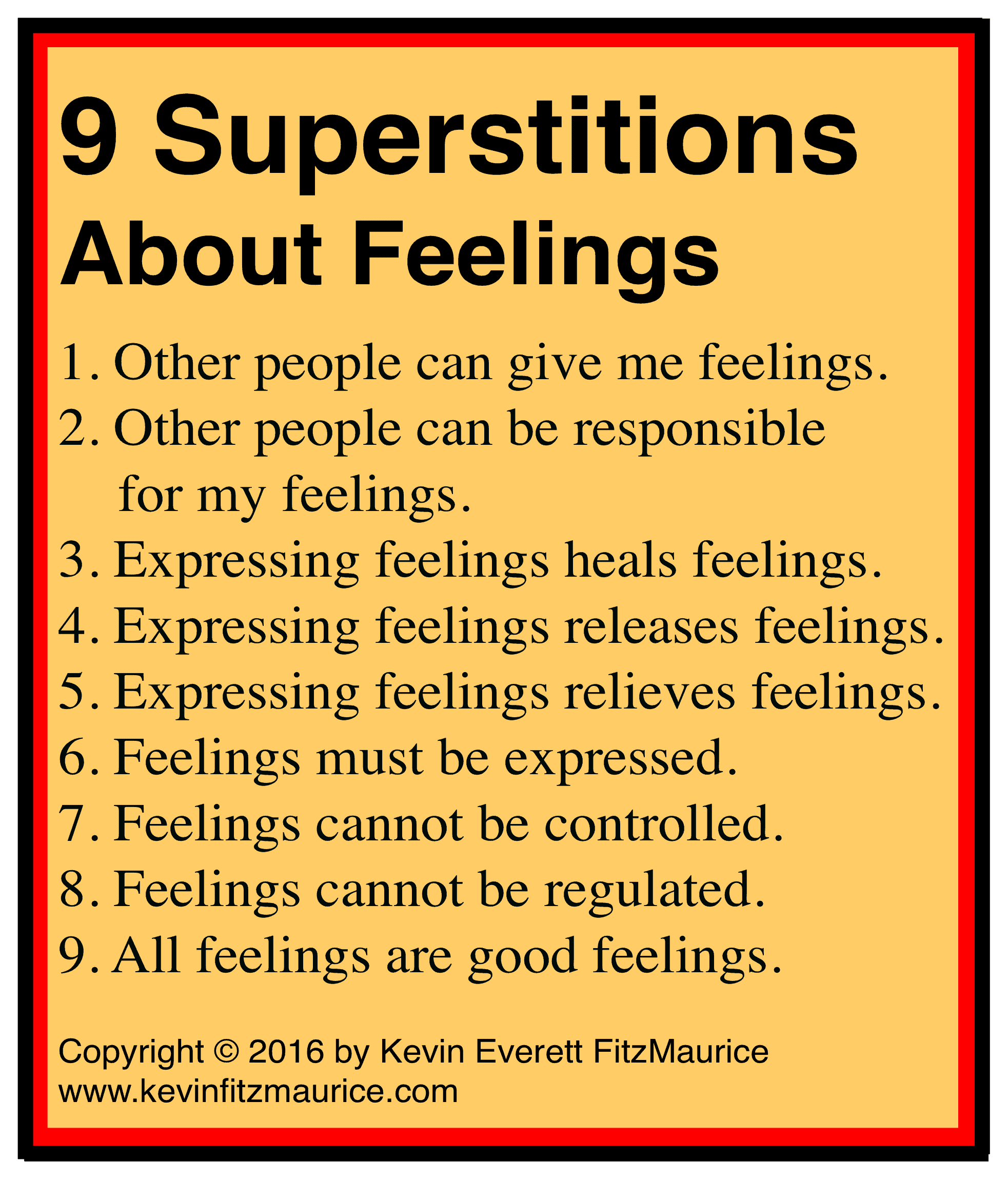 9 superstitious feelings