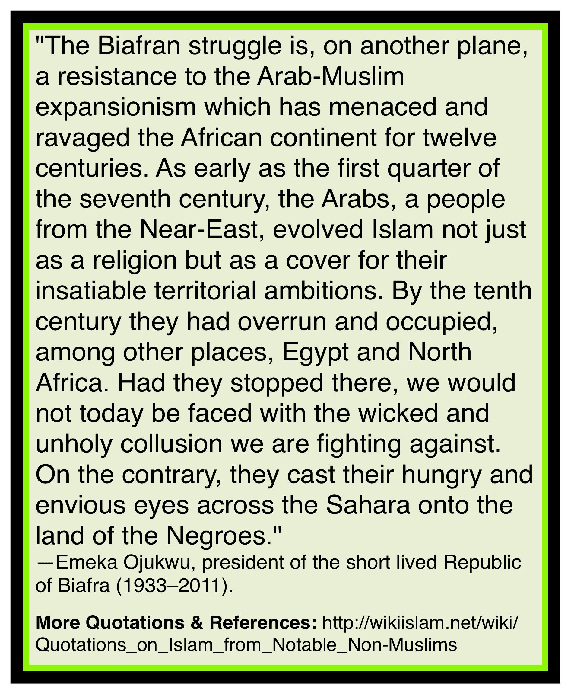 Islam destroying Africa
