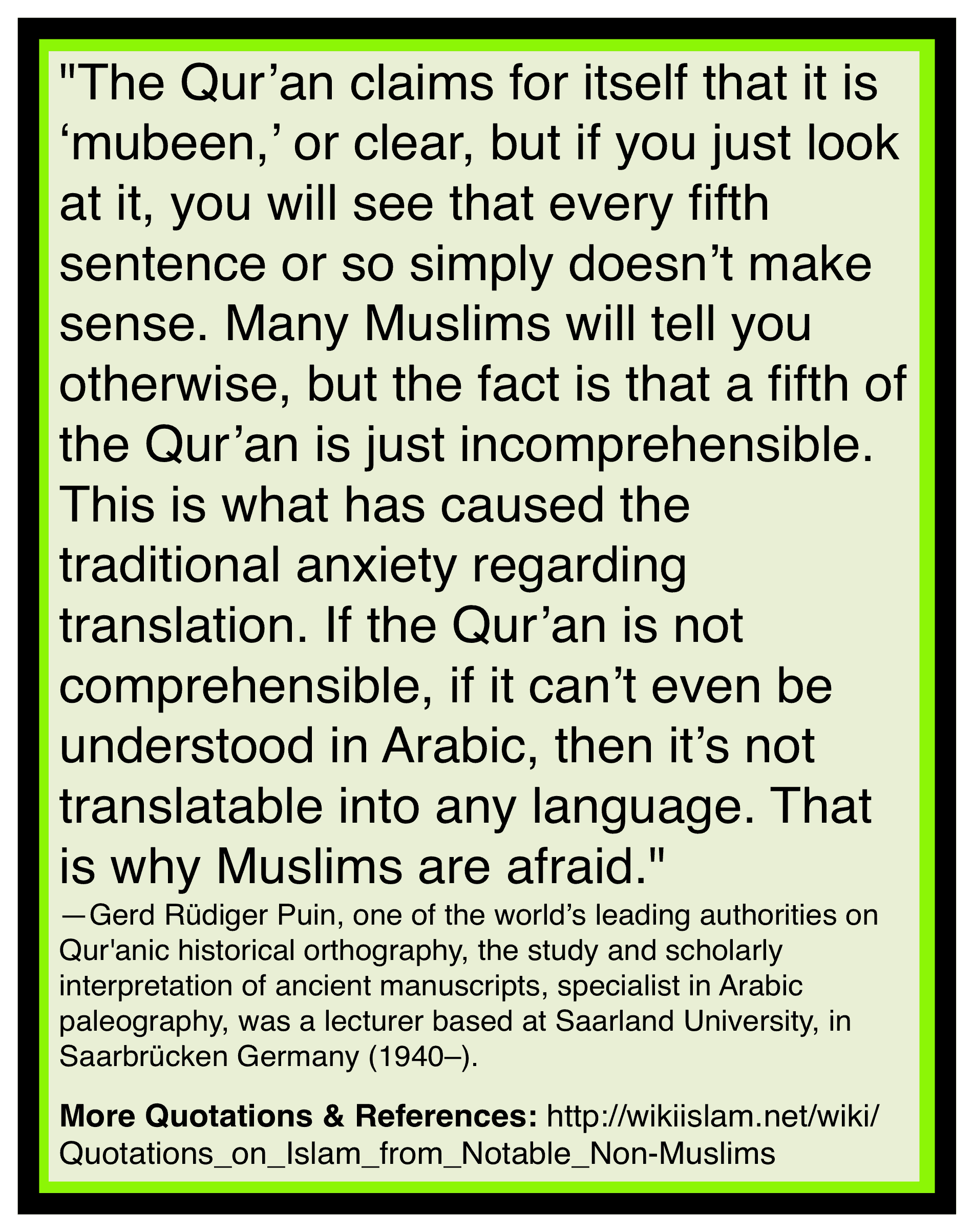Quran is a mess and unclear