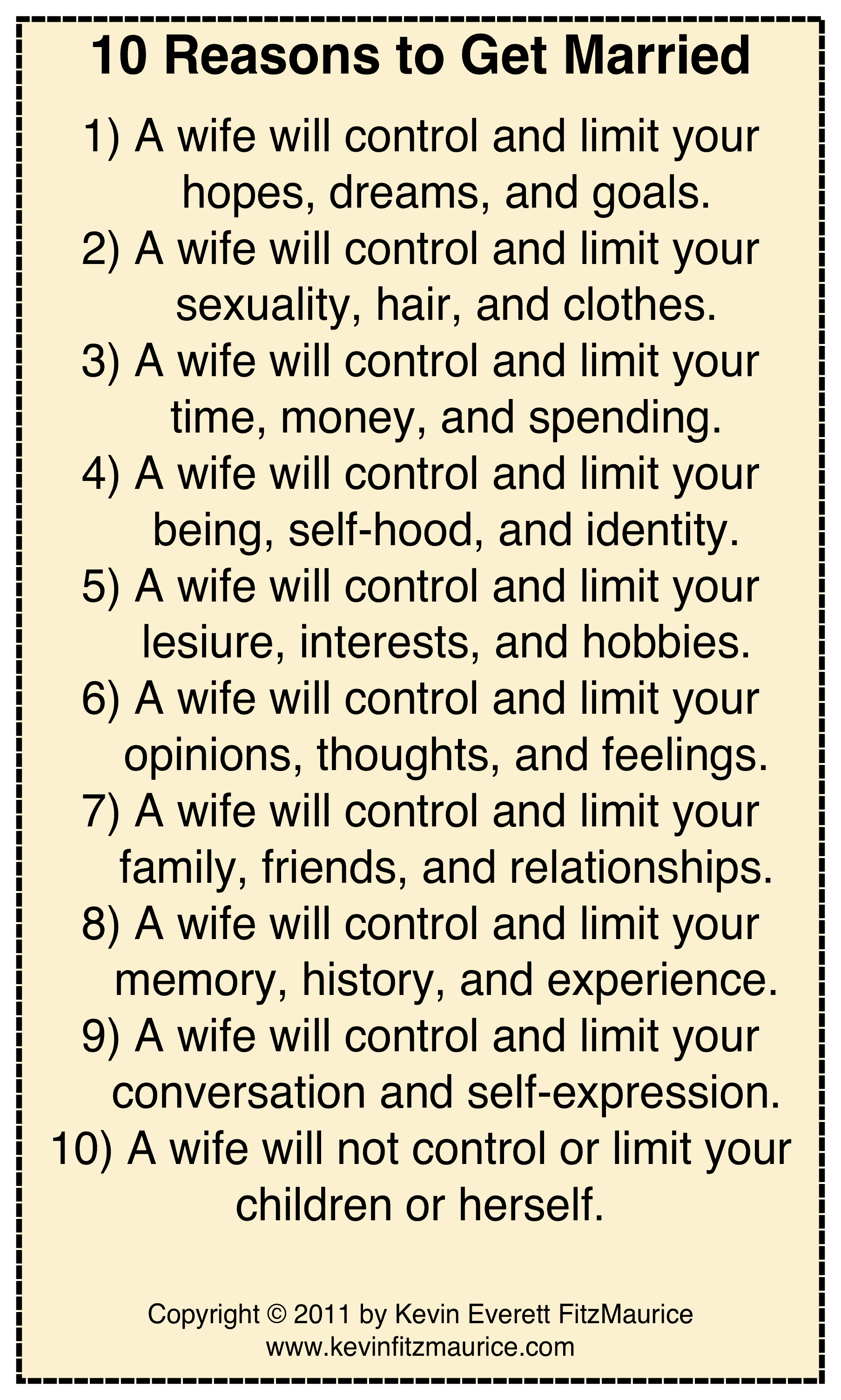 10 reasons to get married