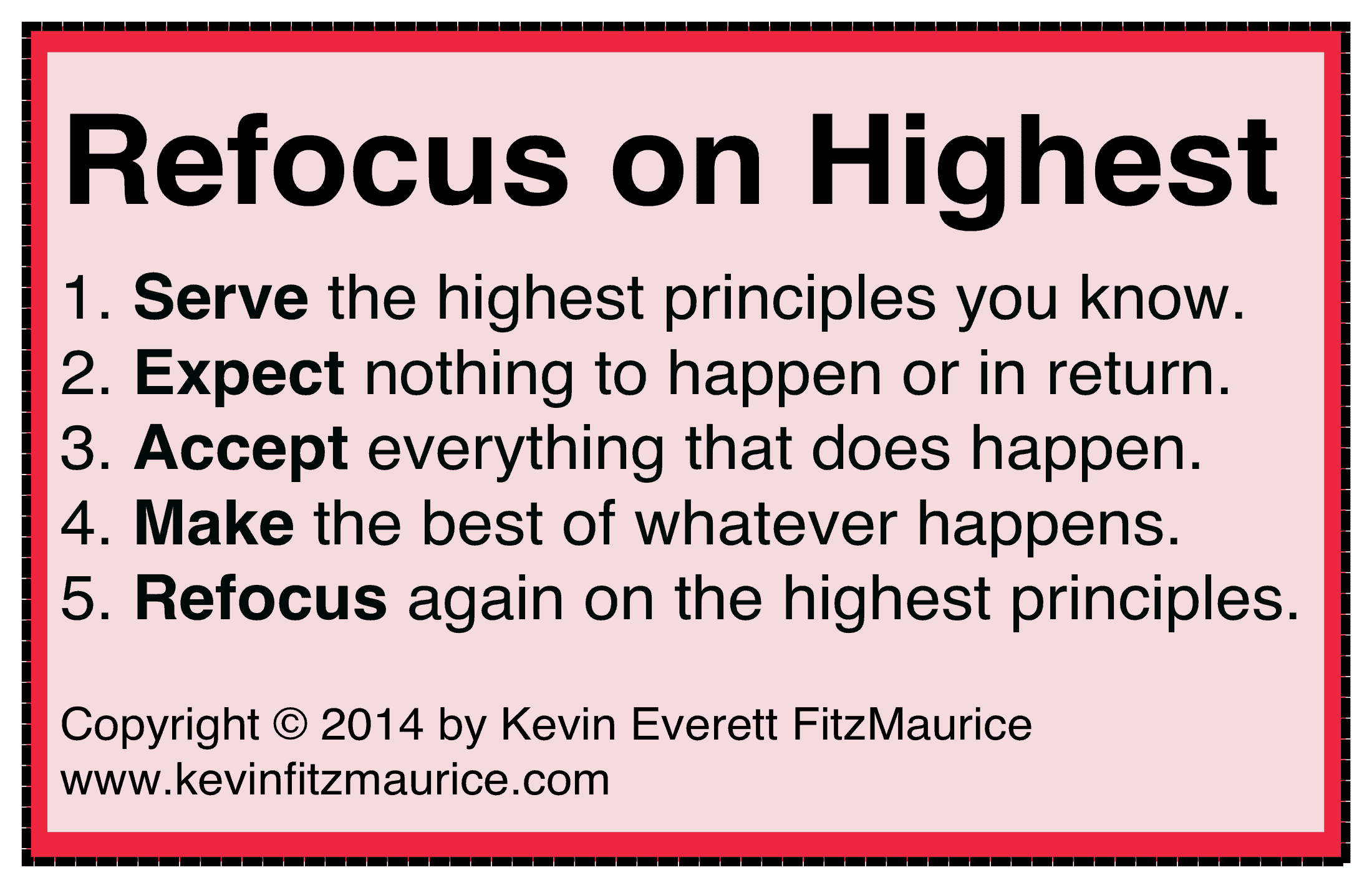 refocus on the highest
