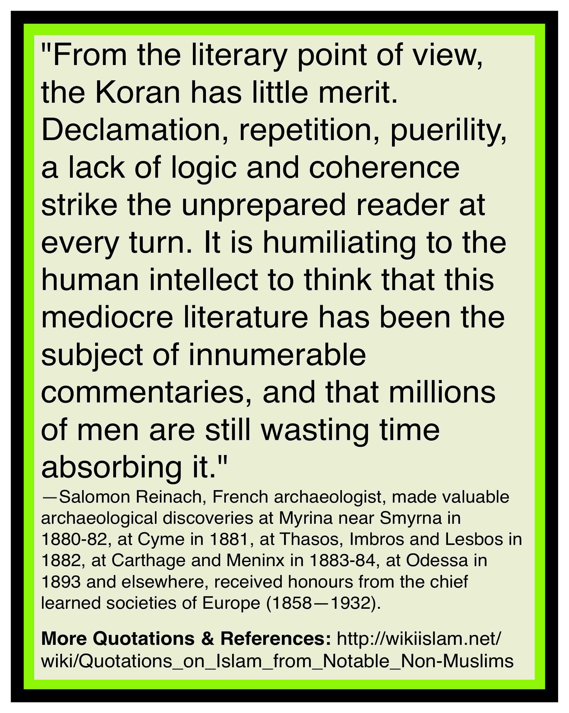 Quran is a literary disaster