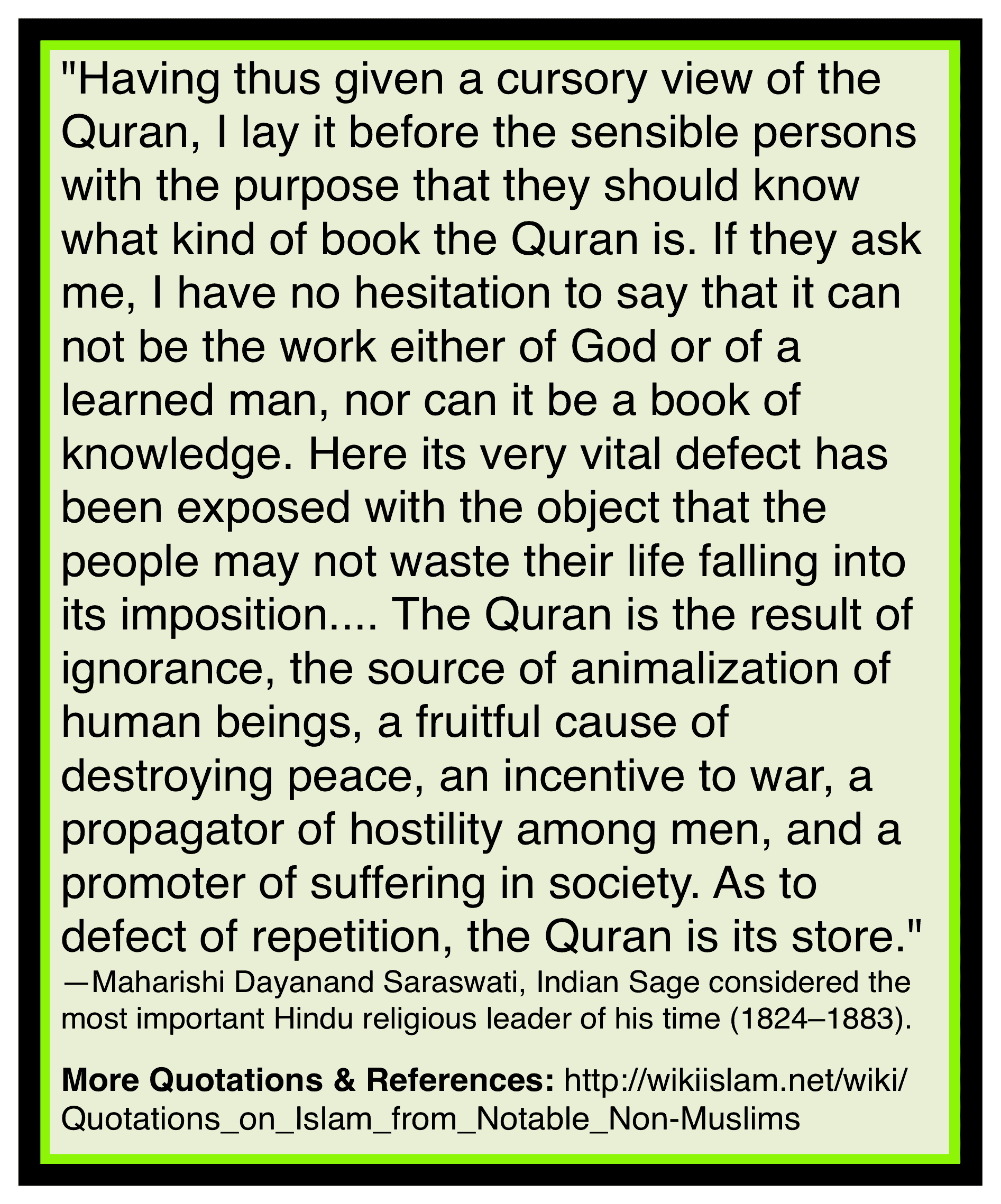 Quran is ignorant book