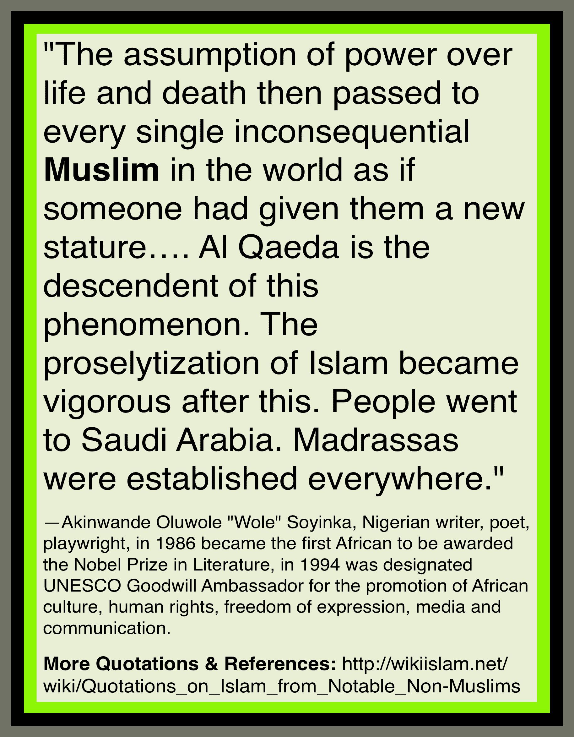 Islam preaches murder