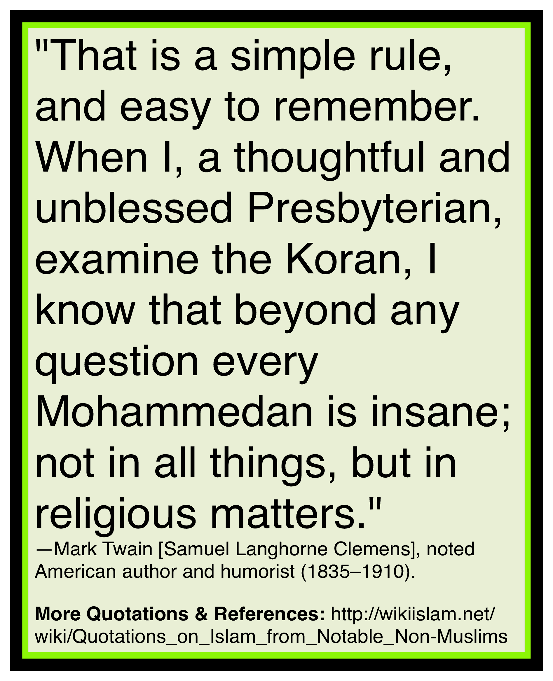 Islam is insane religion