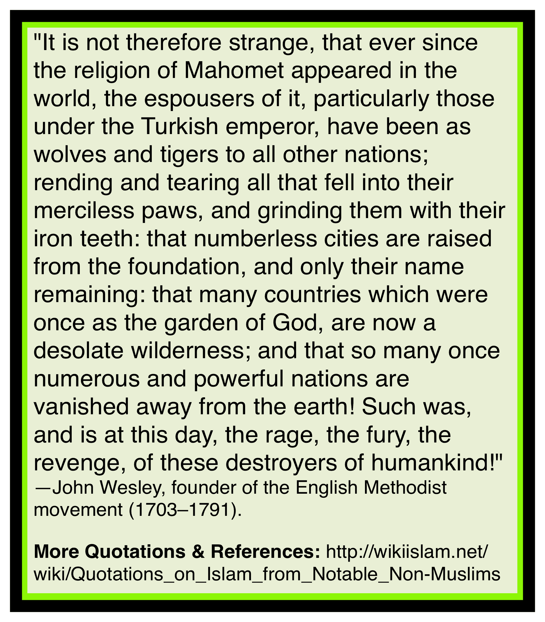 Islam corrupts governments