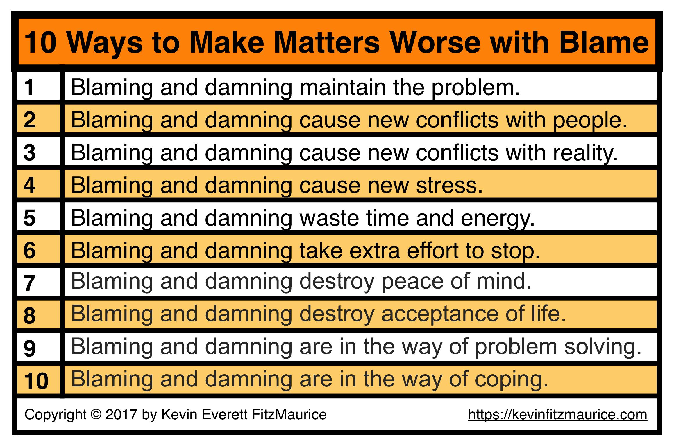 10 Ways to Make Things Worse