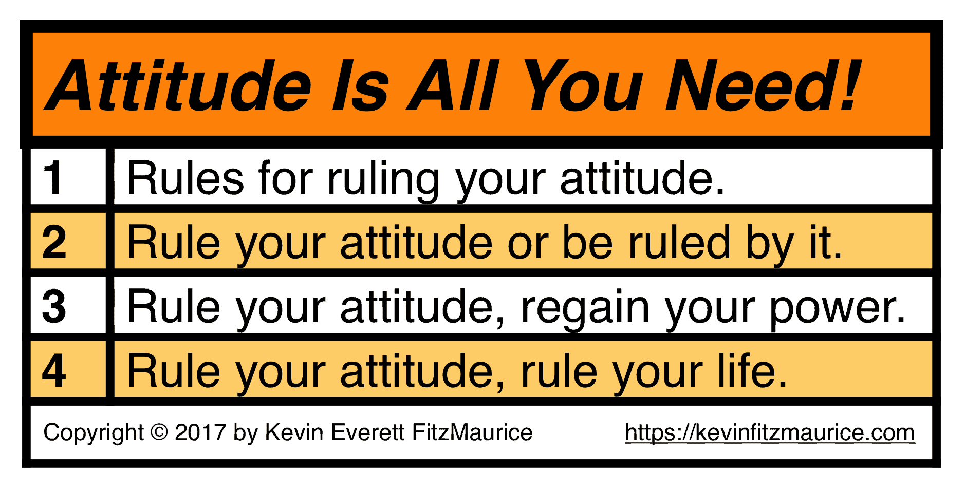 Rules for your attitude