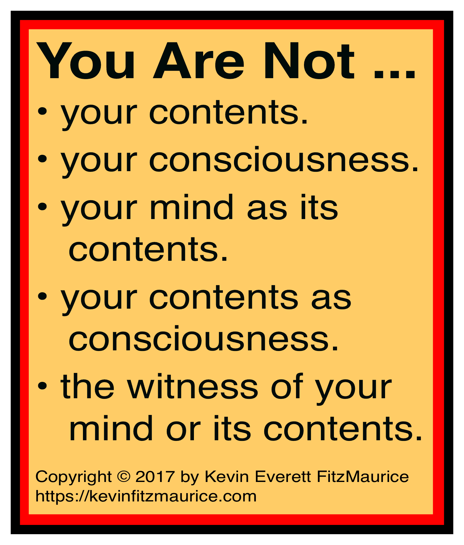 You are not your contents