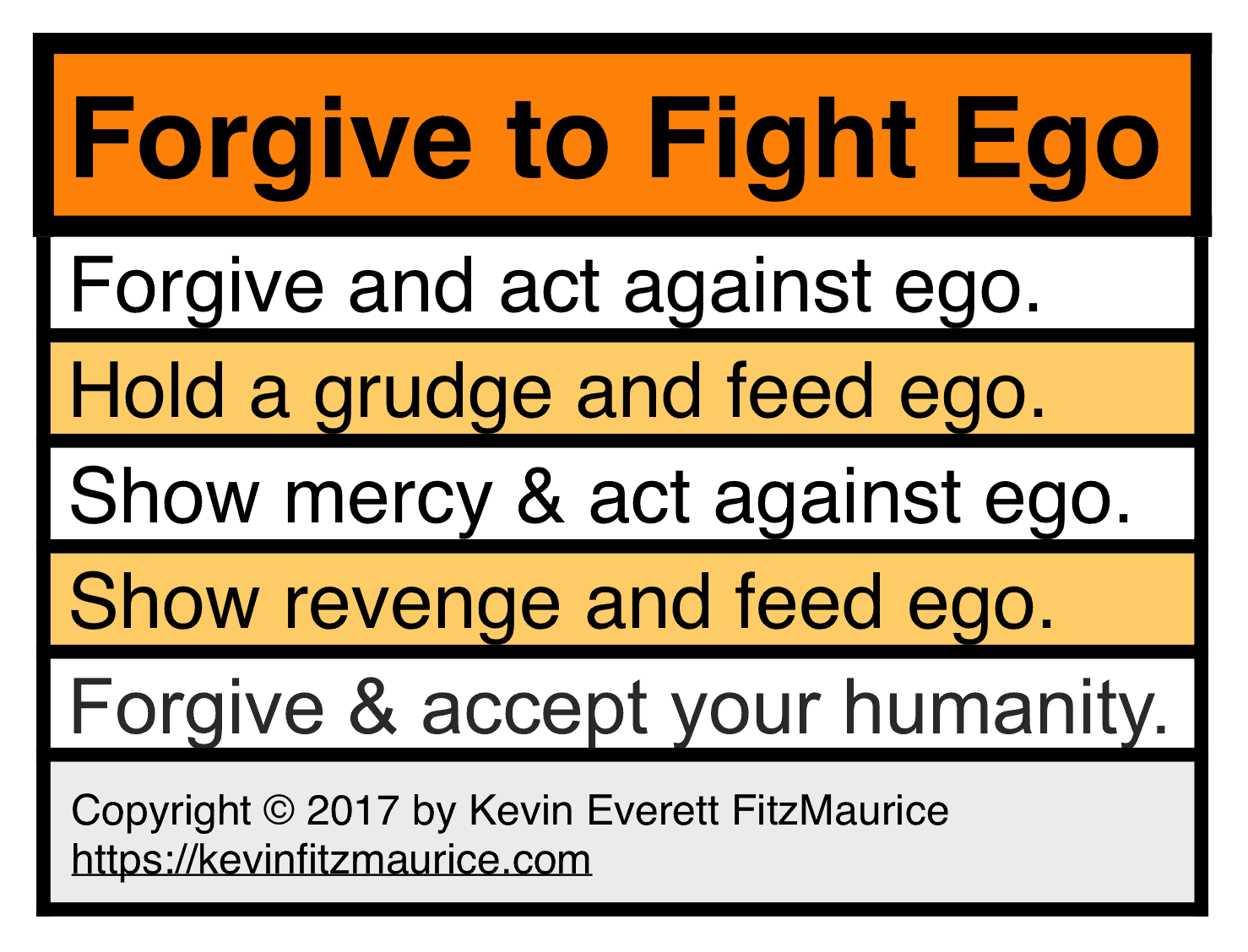 Forgive to Fight Ego