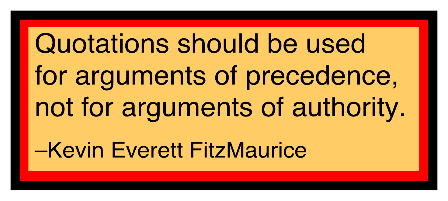 Use quotations for precedence