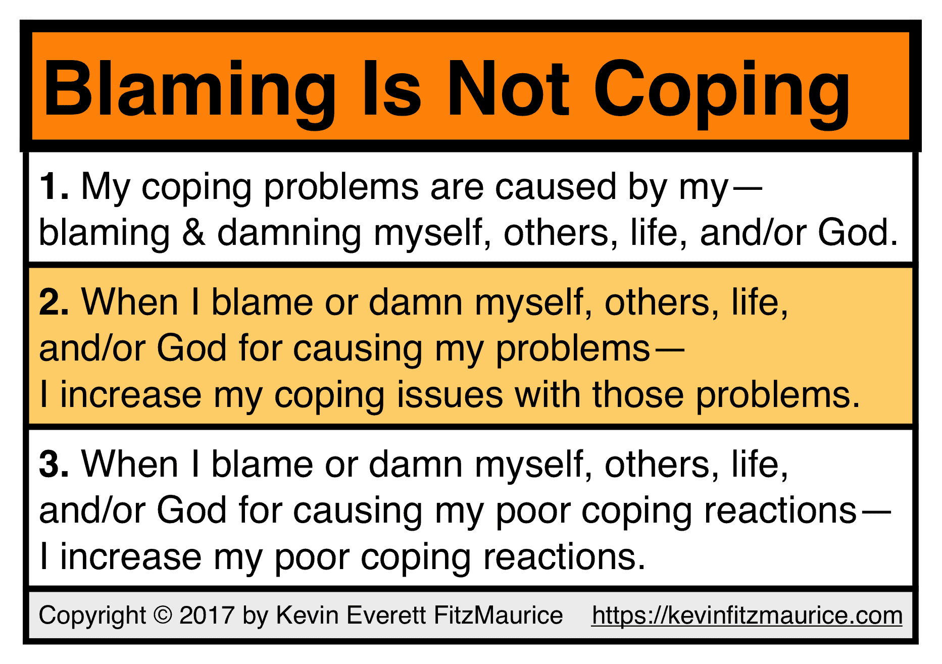 Blaming Is Not Coping