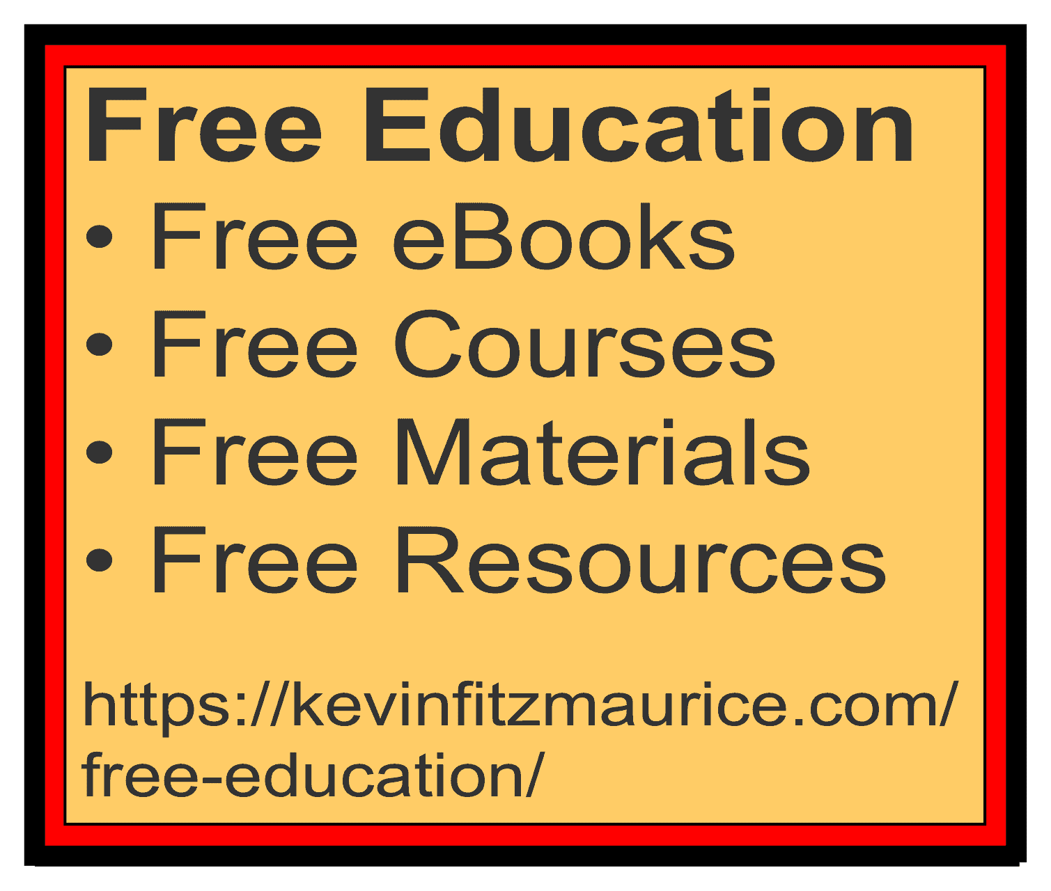 Free Education books, courses & more