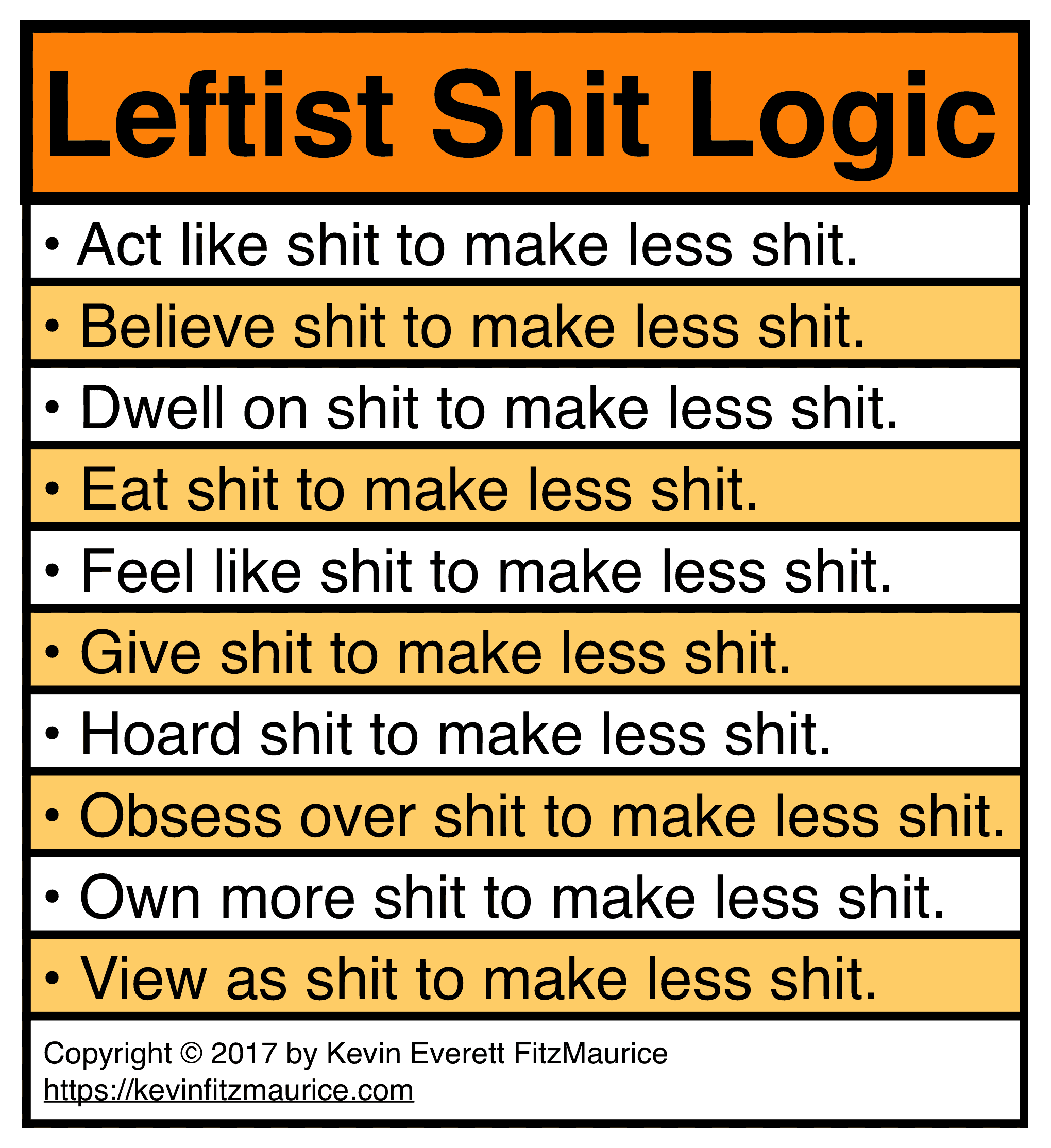 Leftist Shit Logic Examples