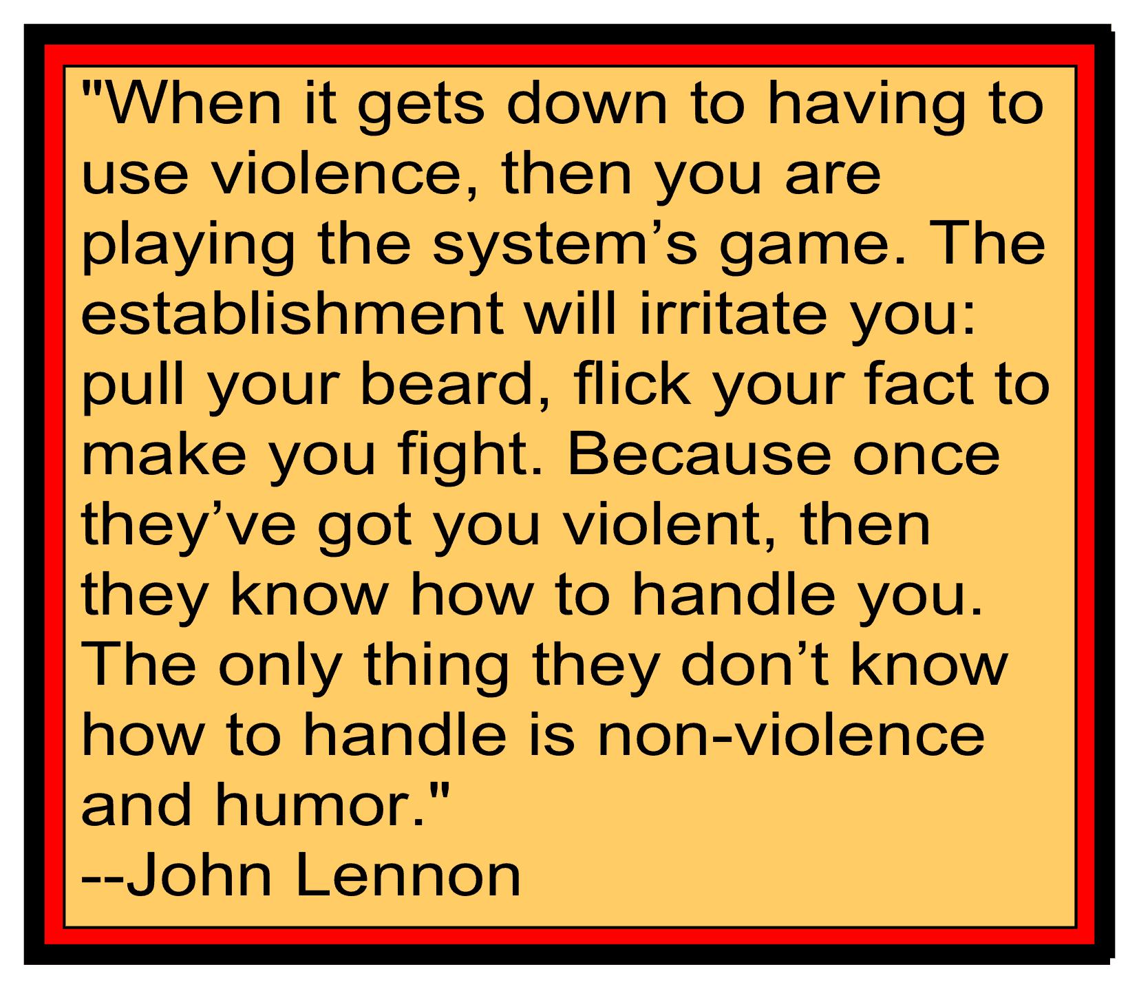 Non-violence & John Lennon