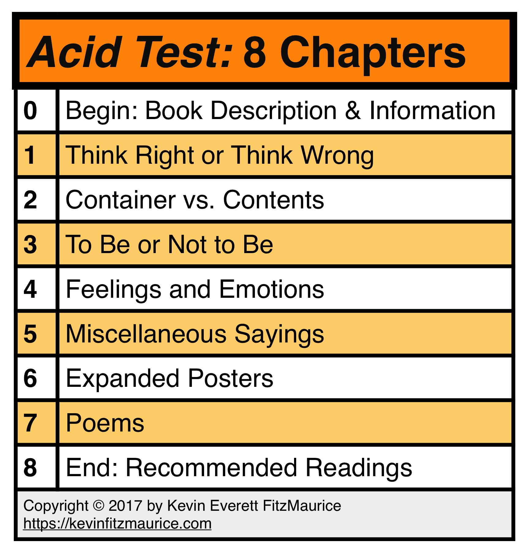 ACID TEST 8 Chapters