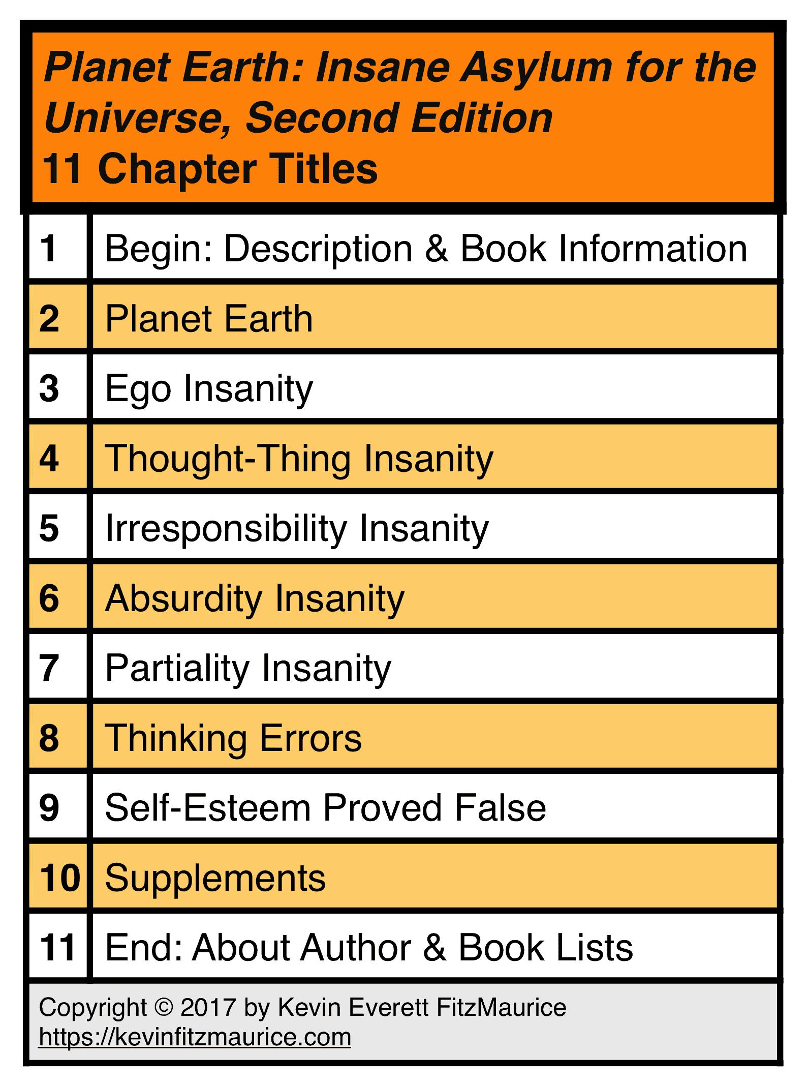 Planet Earth: Insane Asylum - 11 Chapters